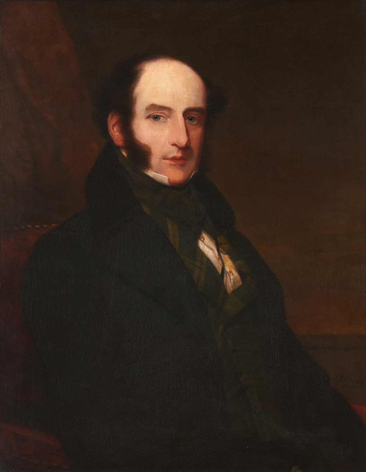 Portrait of Robert Liston painted in 1847 by Samuel John Stump