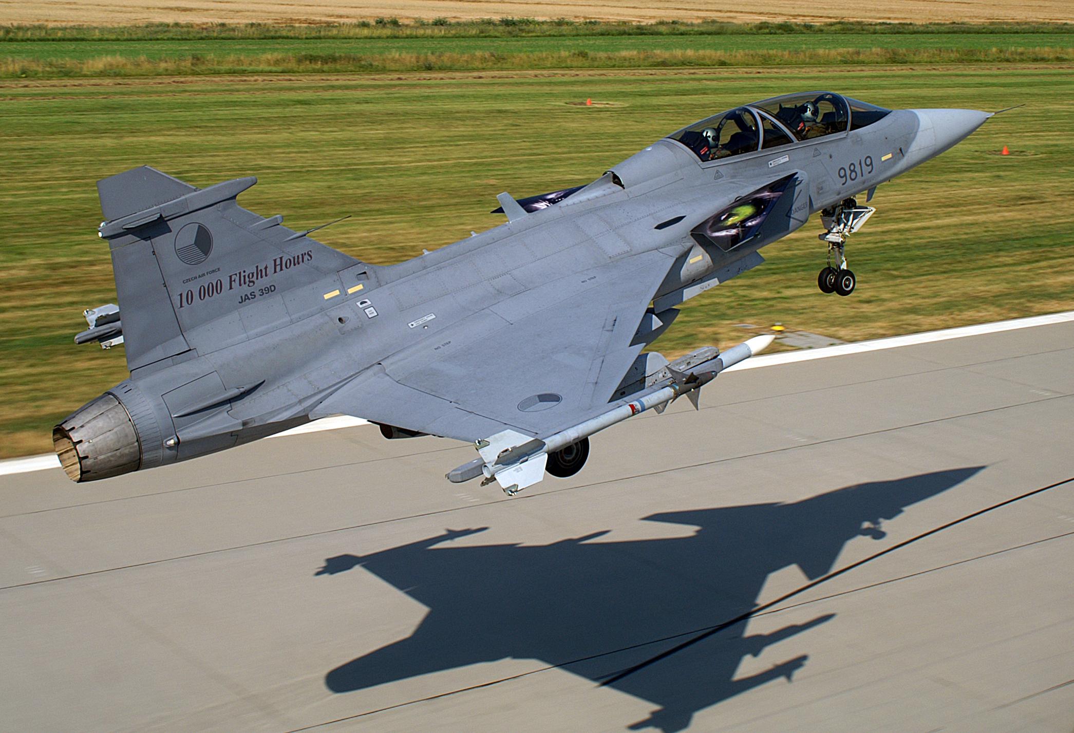 Česká stíhačka Saab JAS-39 Gripen