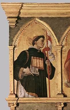 Daniel av Padova, del av altertavlen for evangelisten Lukas av Andrea Mantegna (1431-1506), Pinacoteca di Brera i Milano