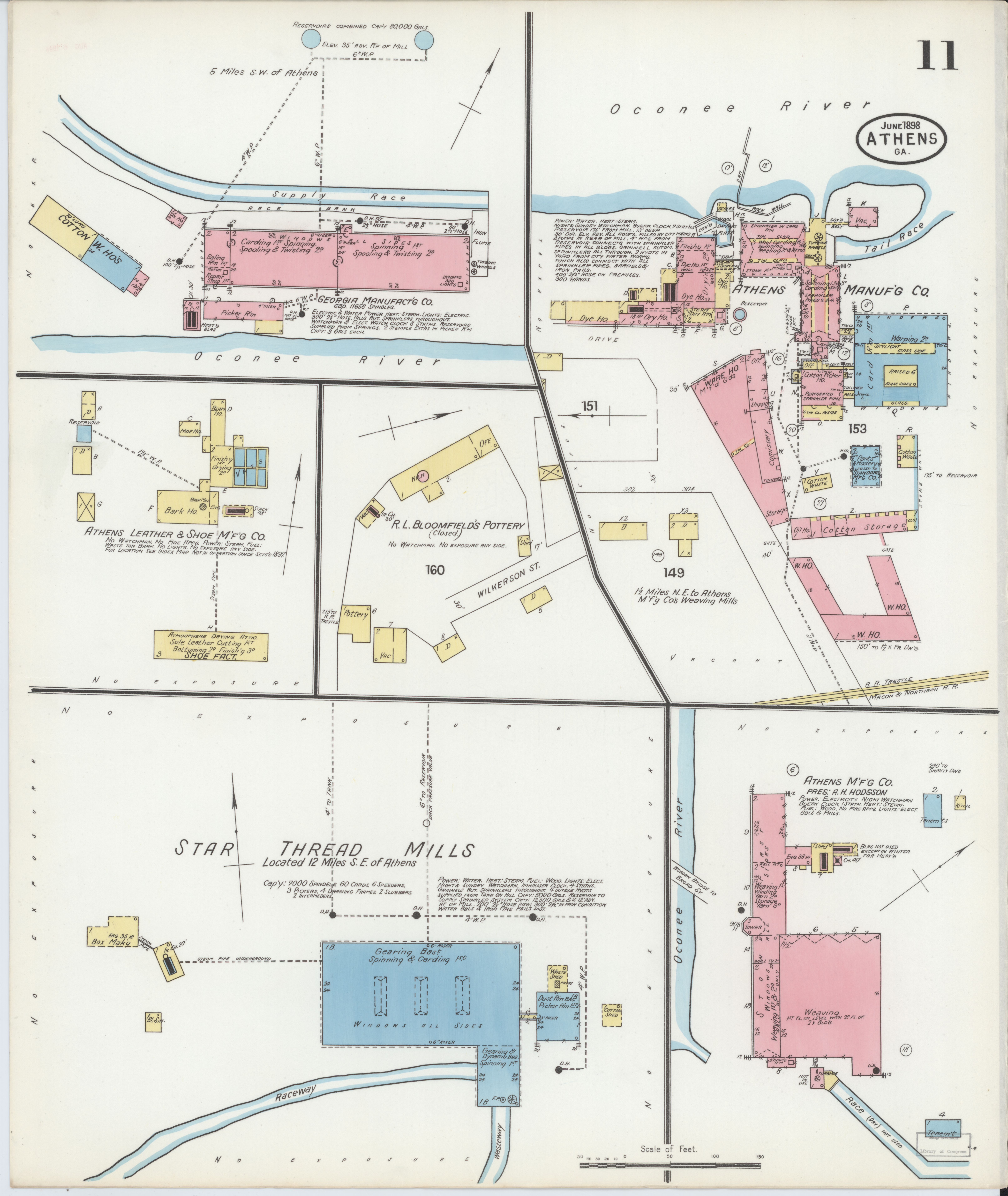 Map Of Georgia Athens.File Sanborn Fire Insurance Map From Athens Clarke County Georgia