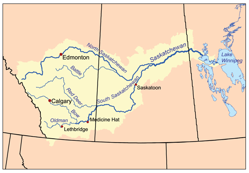 river map with canada - photo #43