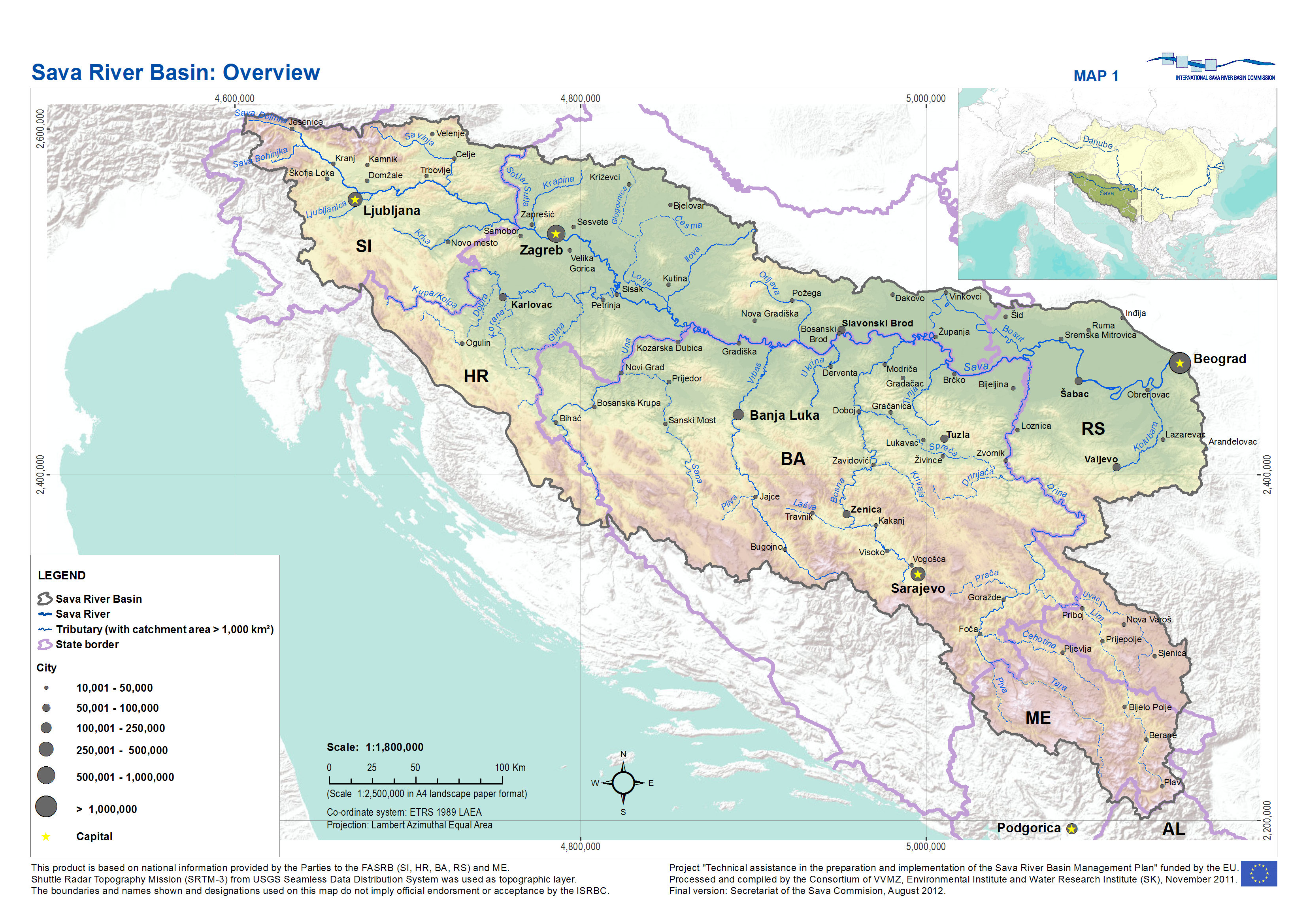 Description sava river basin