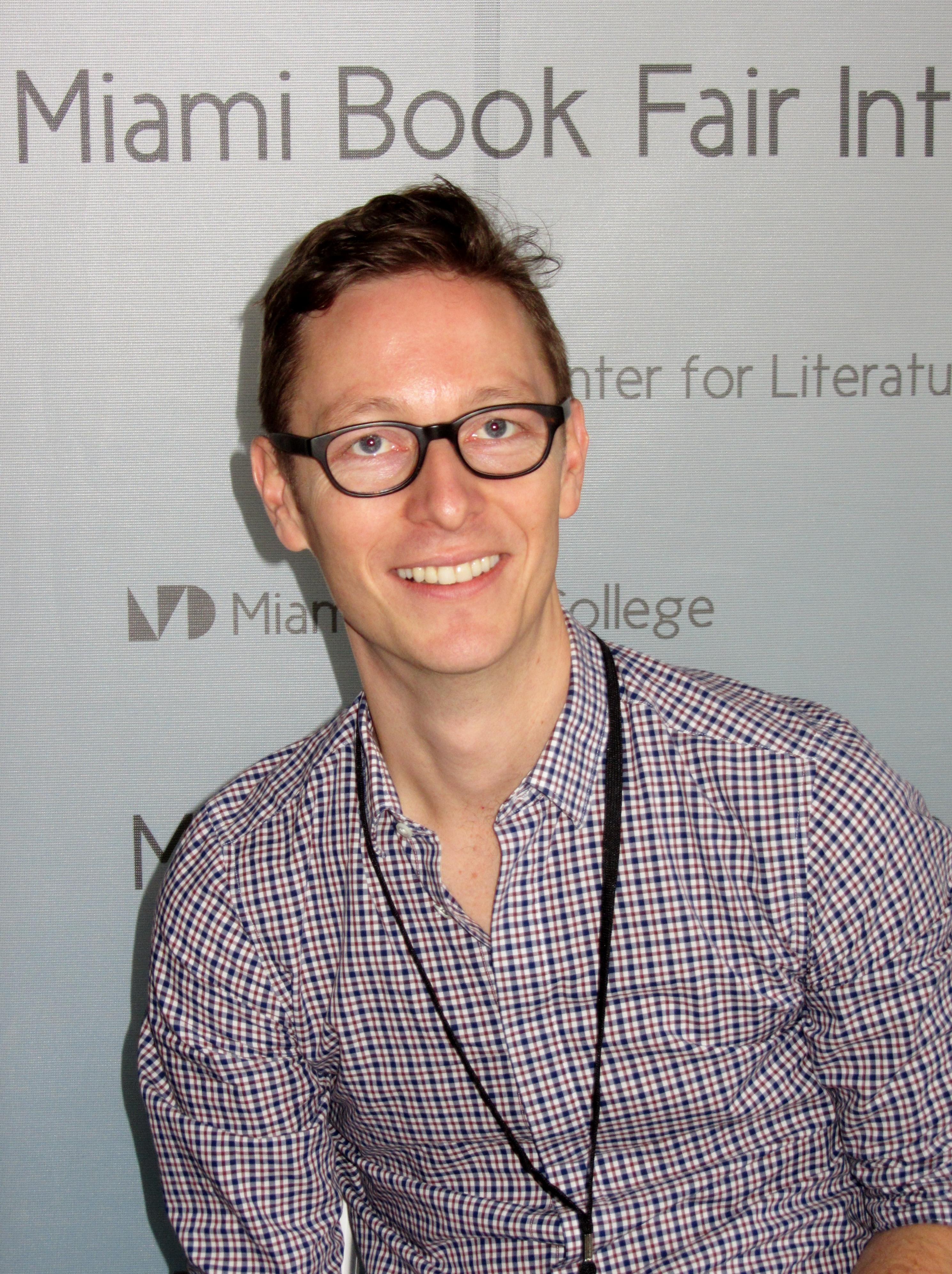 Schrefer at the [[Miami Book Fair International]], 2014