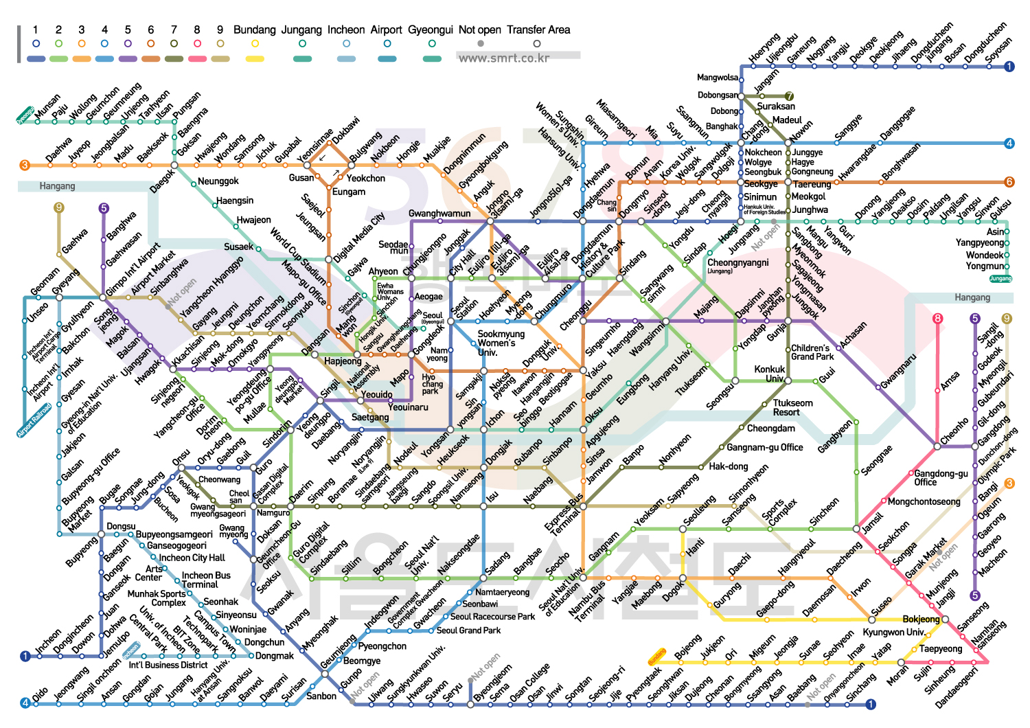 Map Of Seoul Subway English