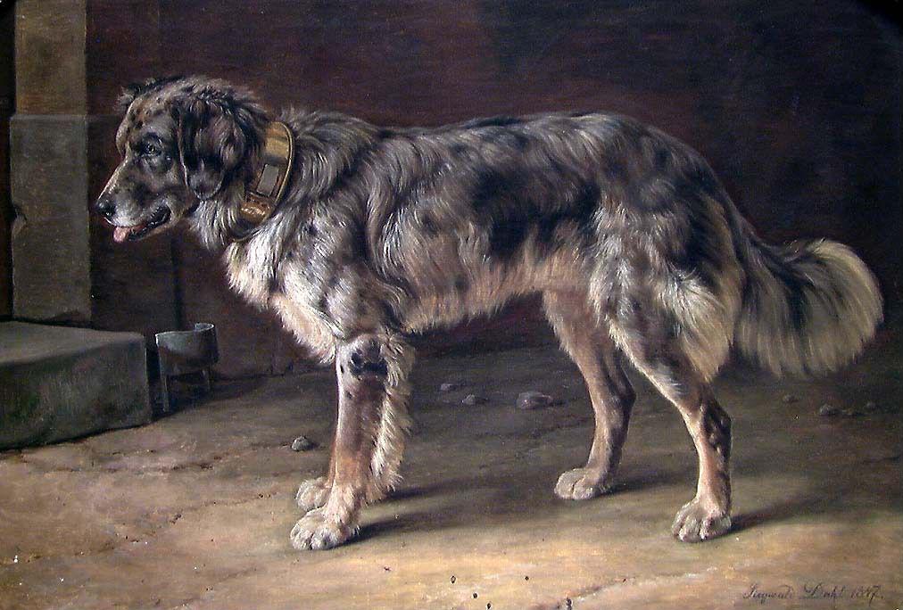 Зигвальд Даль - Собака - NG.M.00720 - Национальный музей искусства архитектуры и дизайна.jpg