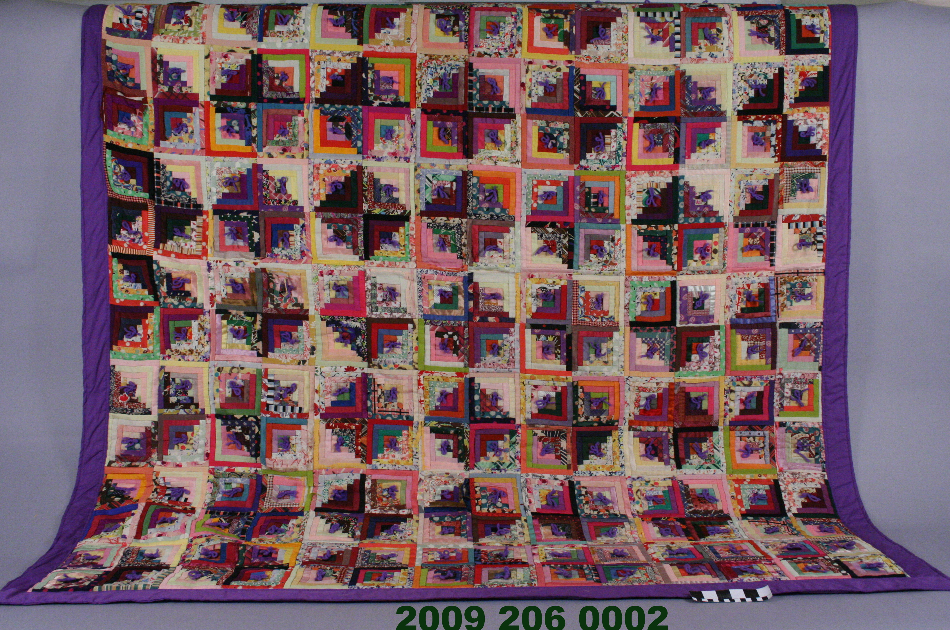 File Silk Log Cabin Quilt With New Backing Jpg Wikimedia