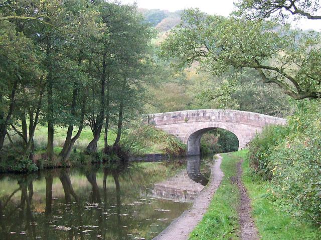 Spring's Bridge, Caldon Canal, Cheddleton, Staffordshire - geograph.org.uk - 589999