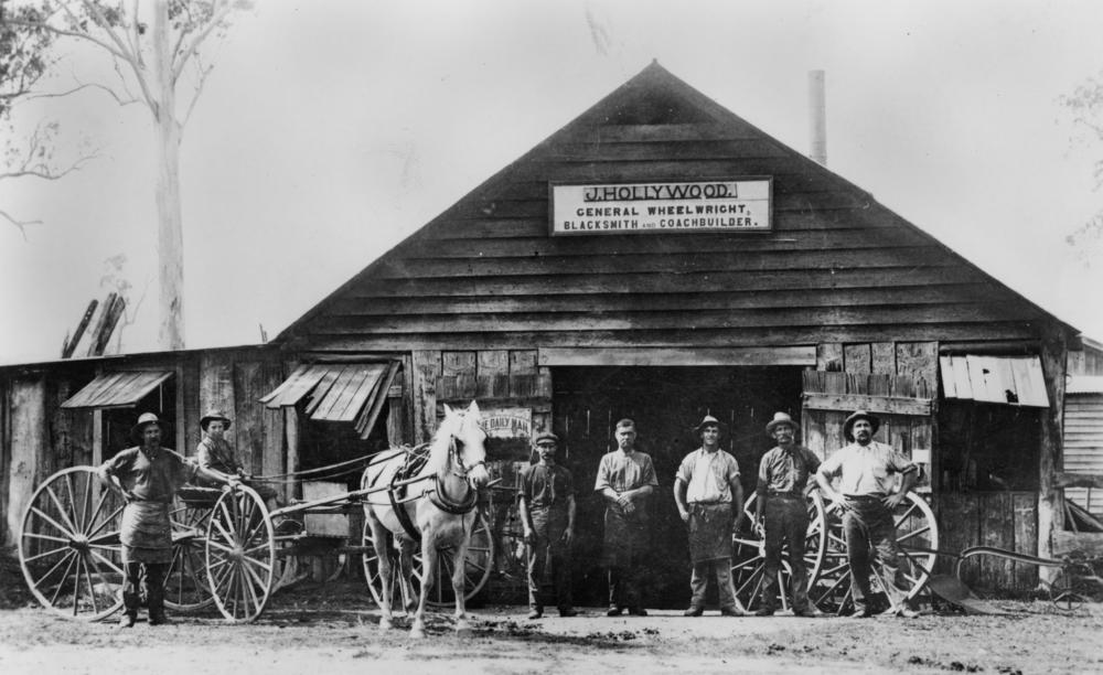 file statelibqld 1 45711 j hollywood s blacksmith shop in