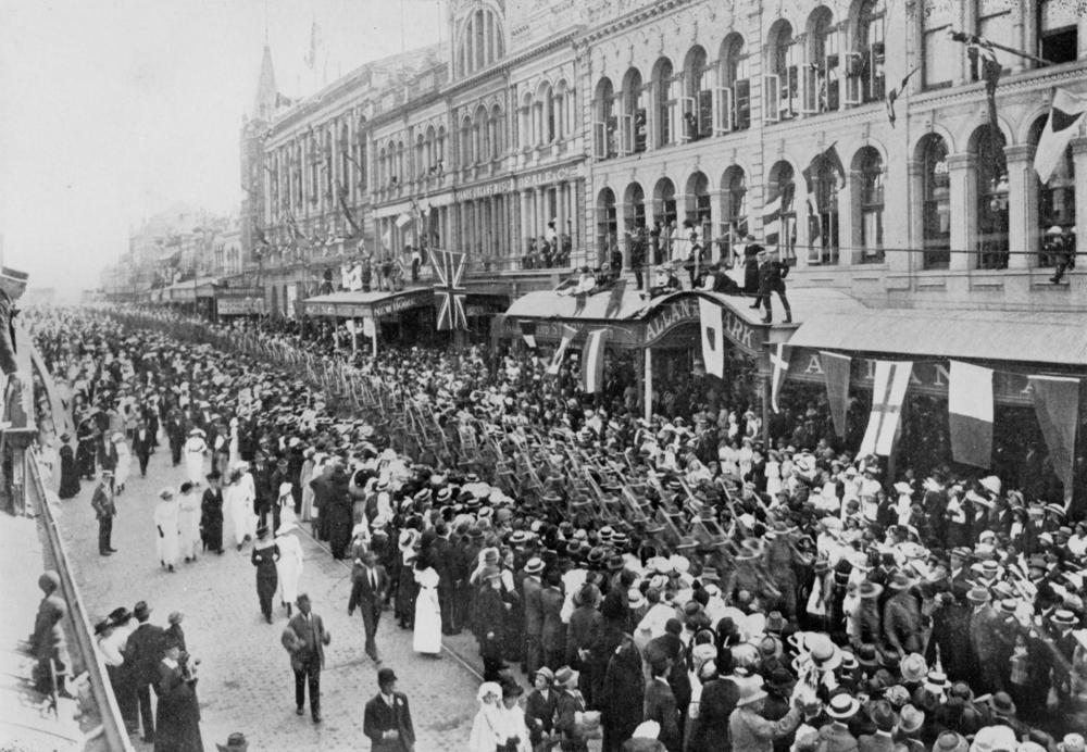 World war one dates in Brisbane