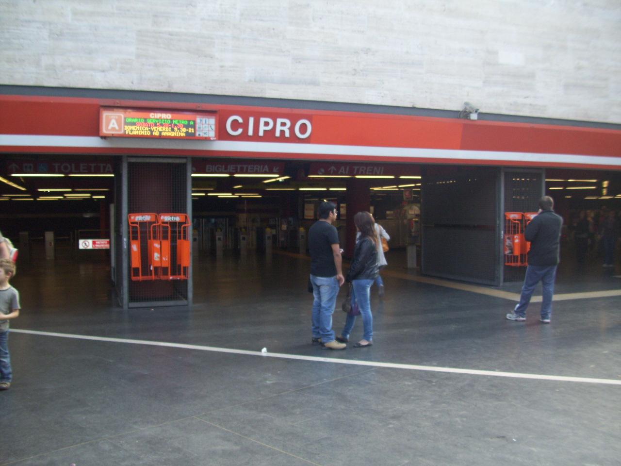 Metro roma stazione cipro