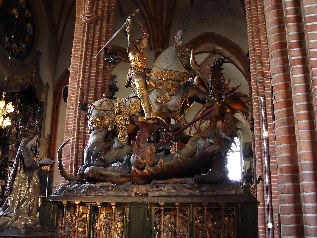 St.Georg mit dem Drachen kämpfend von Bernt Notke