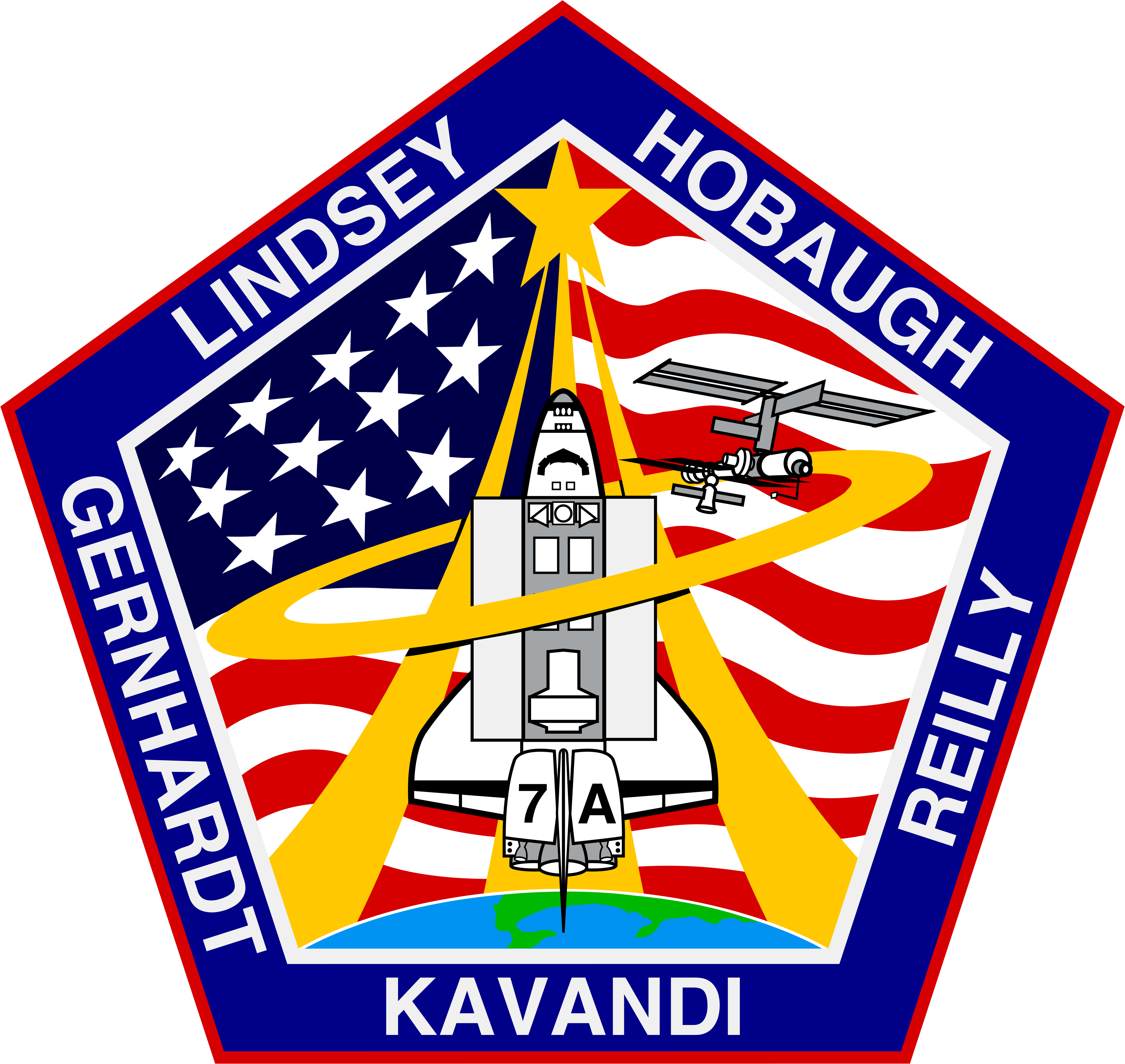 Animation assemblage ISS Sts-104-patch