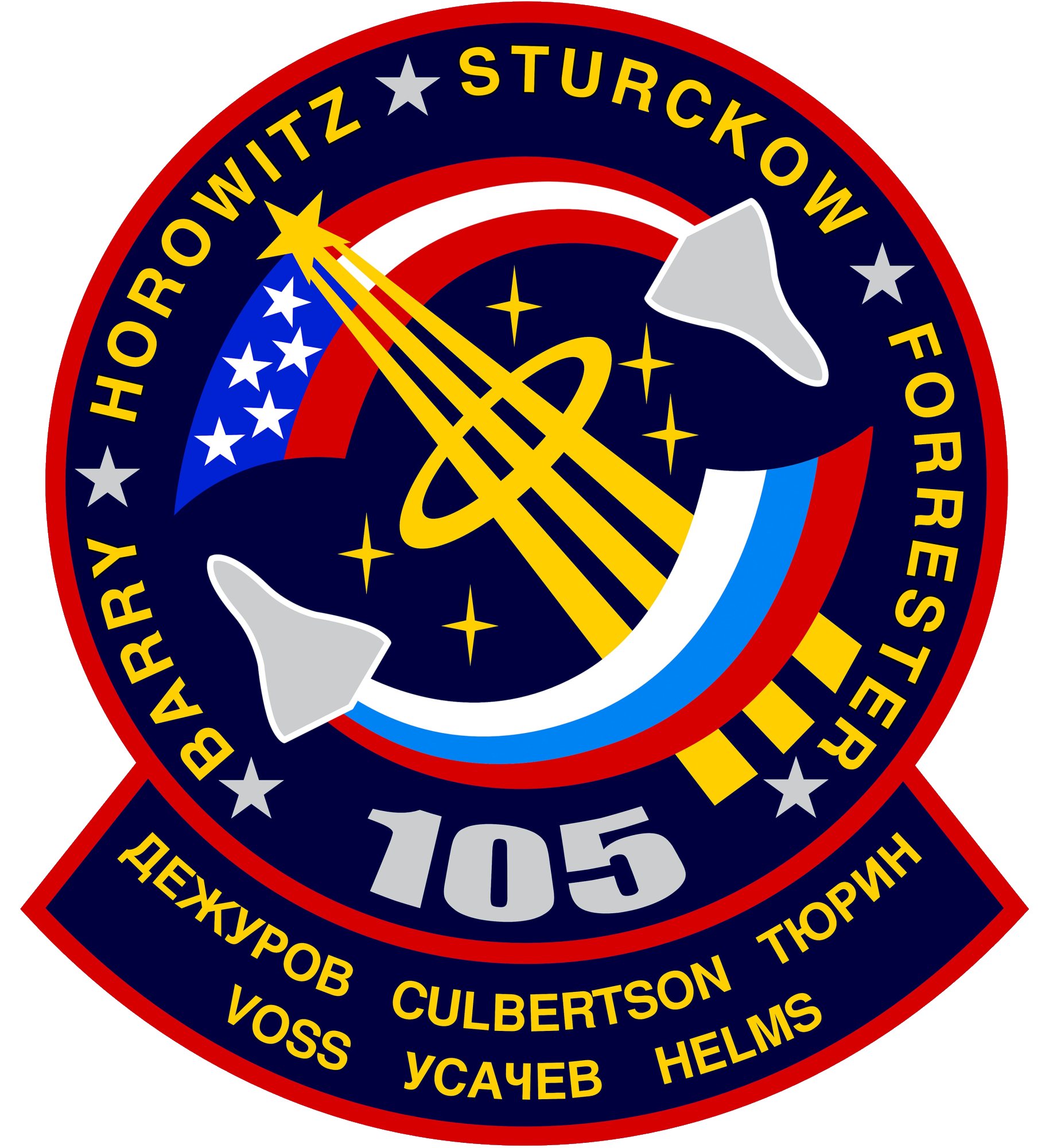 Animation assemblage ISS Sts-105-patch
