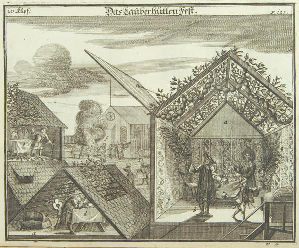 Sukkot, 1724, from Juedisches Ceremoniel.jpg