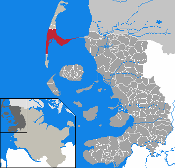 Sylt locator map