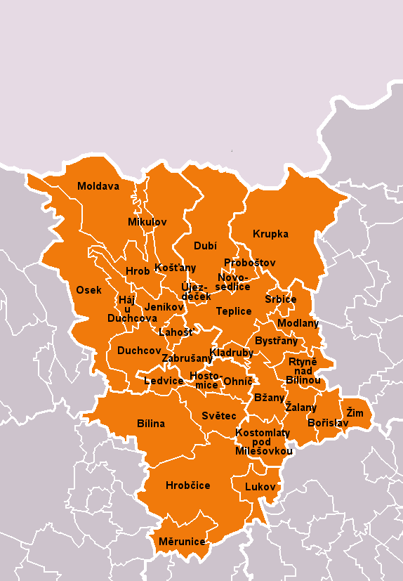 Municipalities of Teplice District