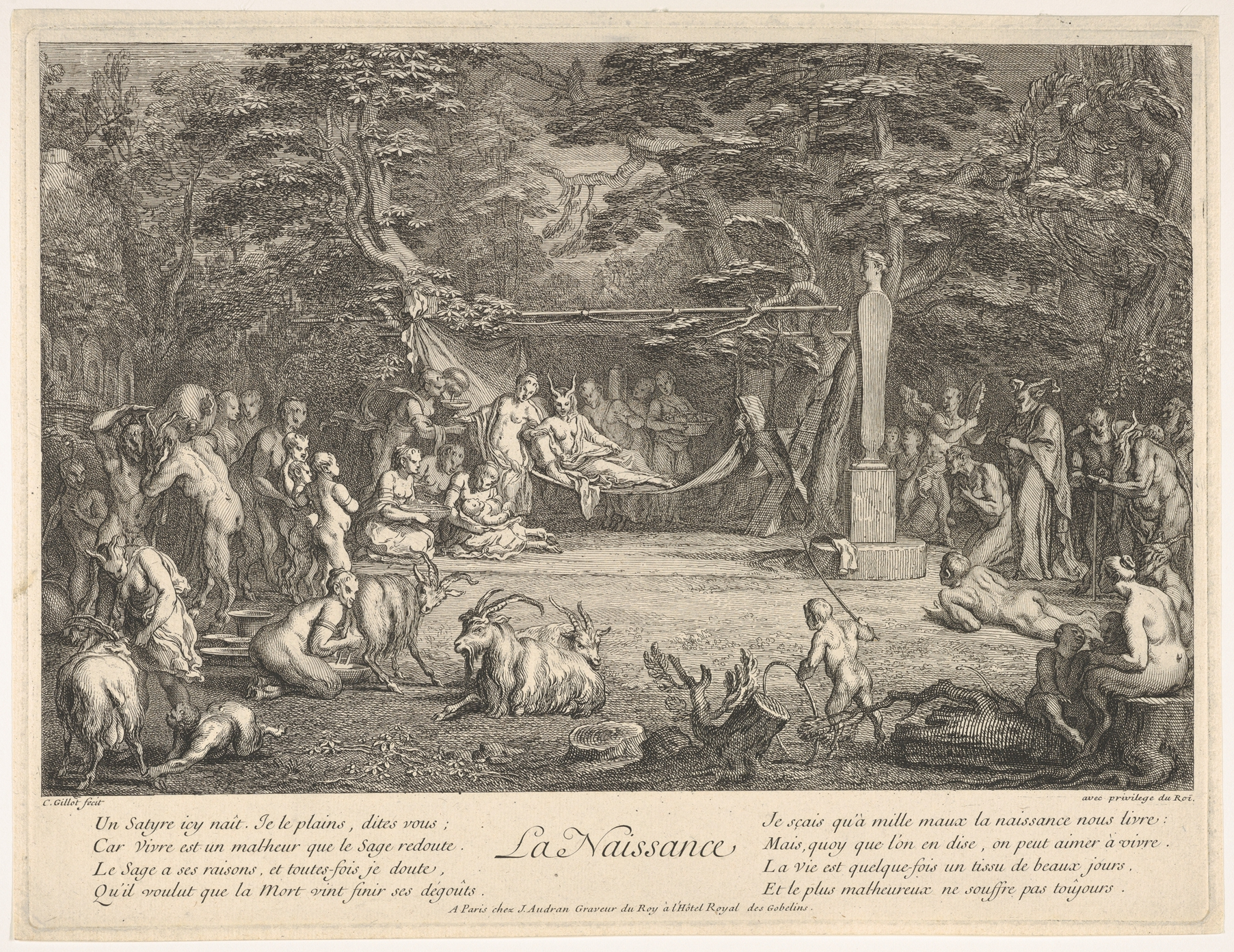 file the birth  la naissance   in a forest the new mother resting in a hammock at center the newborn below her to left various satyrs and goats     file the birth  la naissance   in a forest the new mother resting      rh    mons wikimedia org