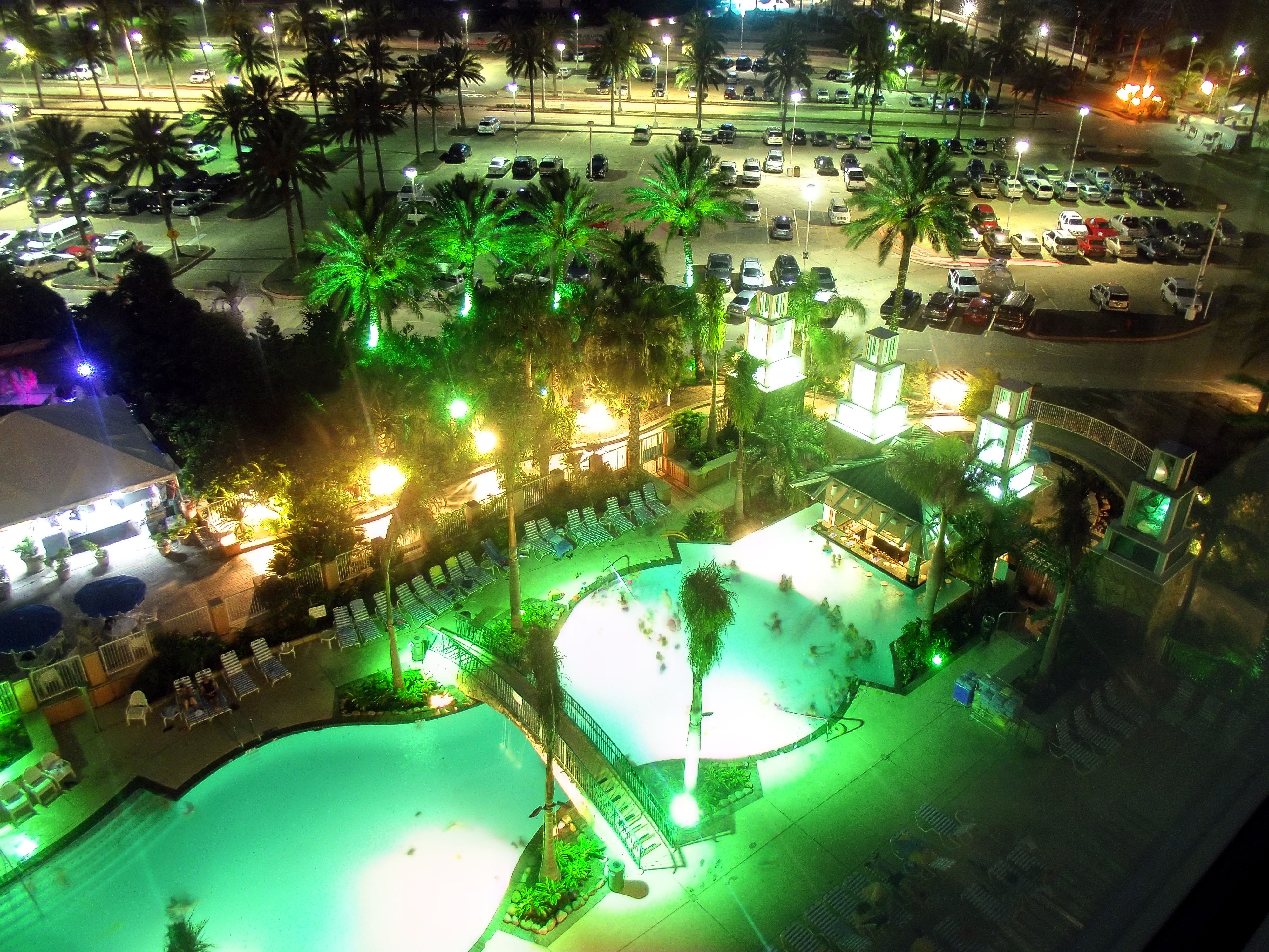 file the moody gardens hotel pool at night 6