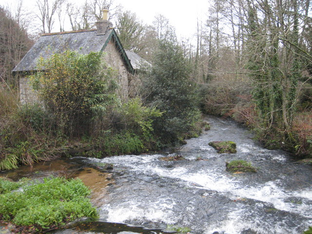 The River Kennall at Kennall Vale Mill - geograph.org.uk - 1050054