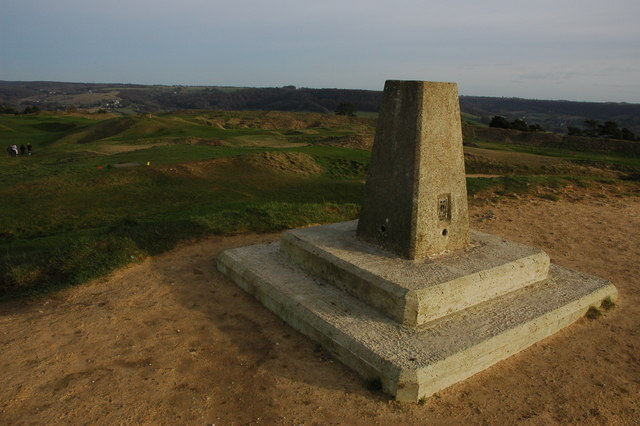 Trig point on Painswick Beacon - geograph.org.uk - 672090