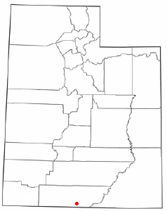 Location of Big Water, Utah