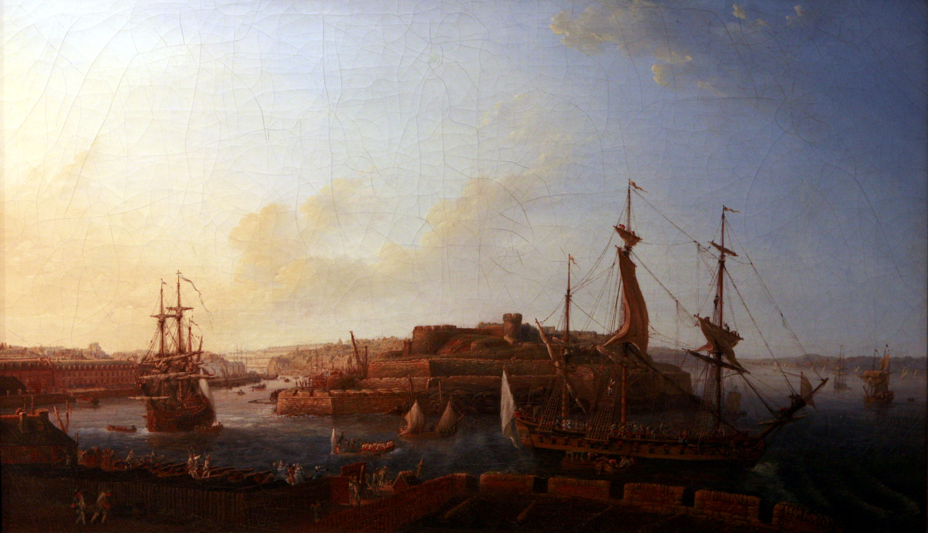 File vue de l 39 entr e du port prise de la batterie royale for Porte vue 300 vues