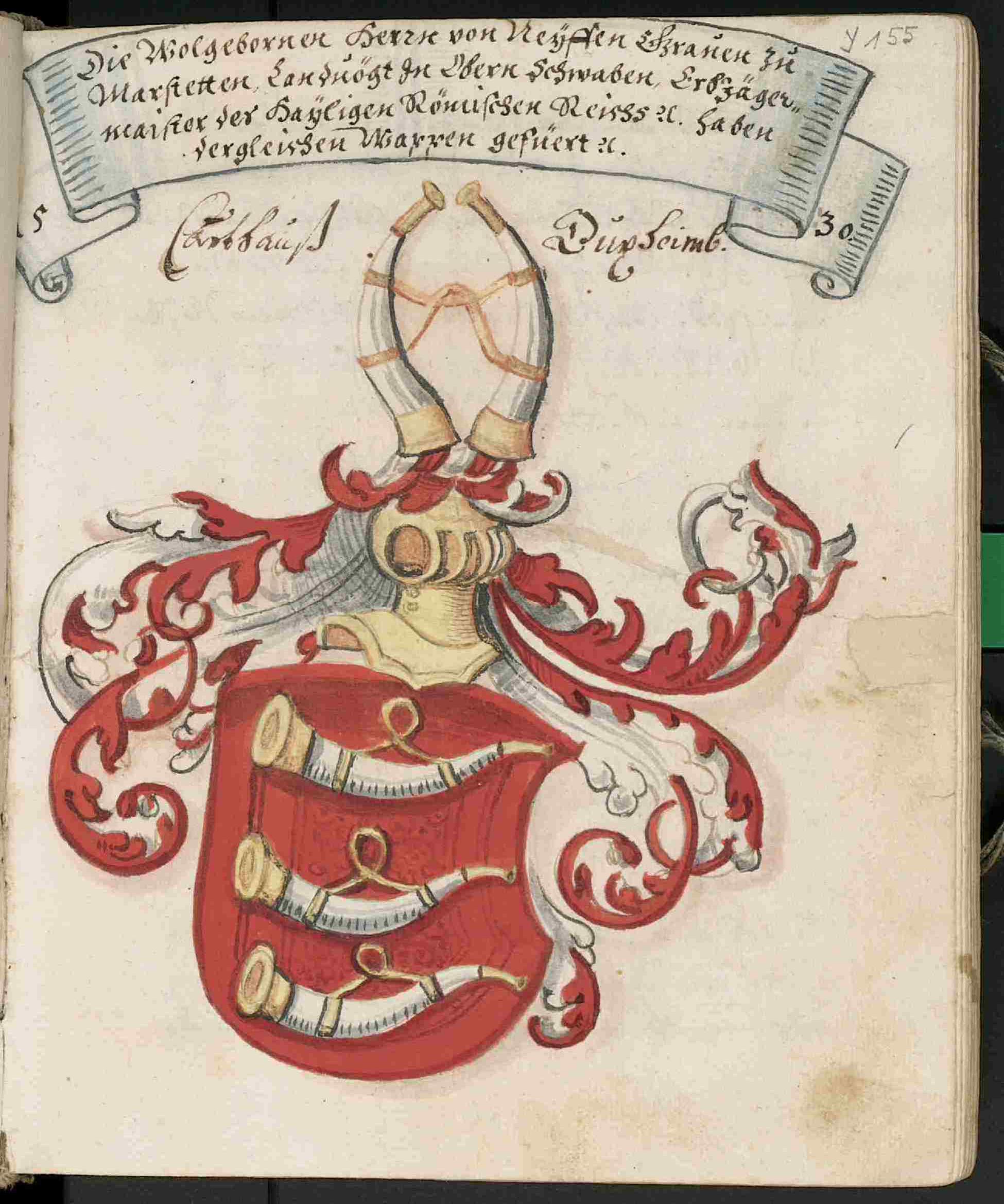 Wappen der Herren von Neyffen, Grafen zu Marstetten, 1530.jpg