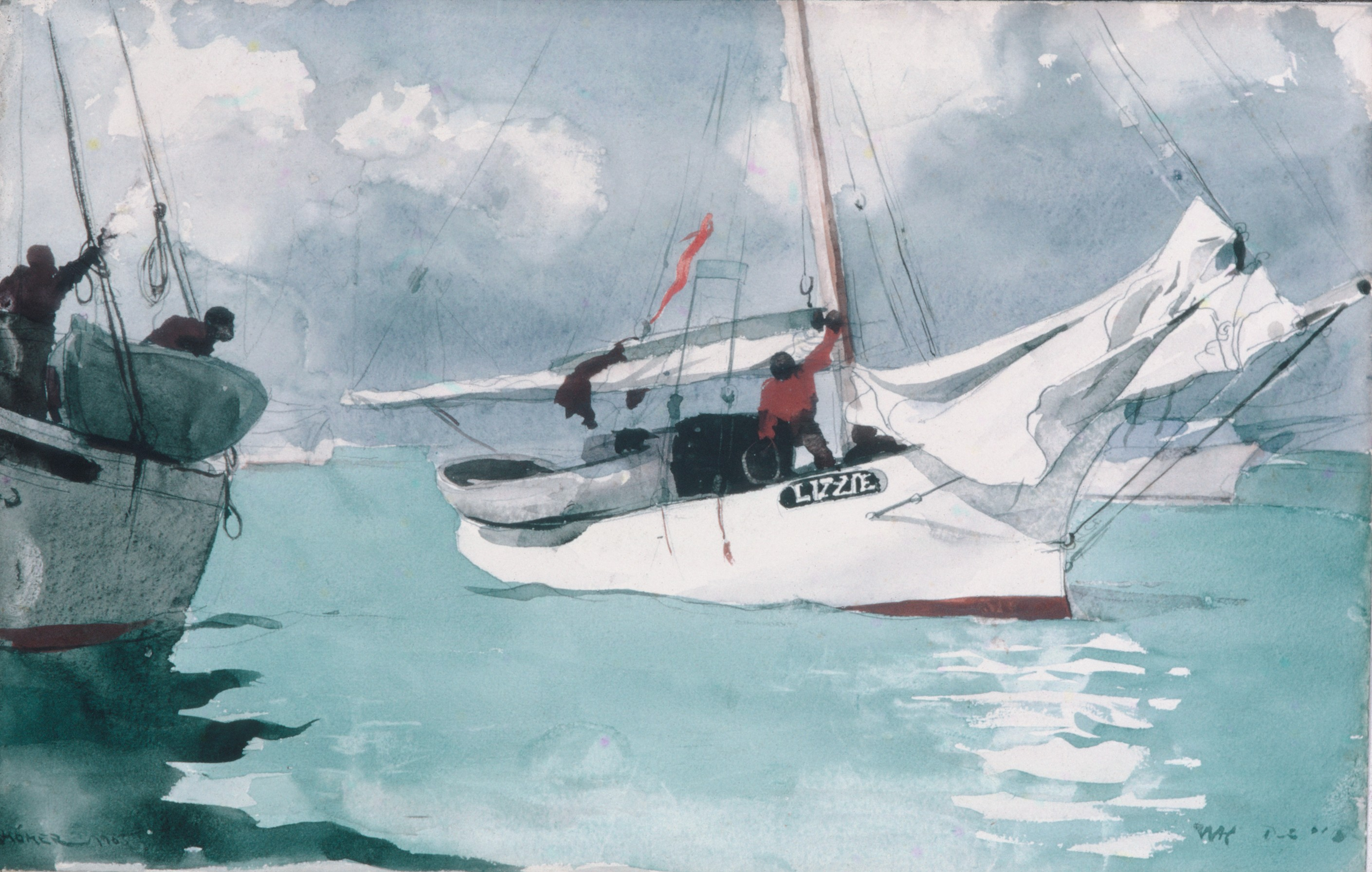 File winslow homer fishing boats key for Key west fishing boats