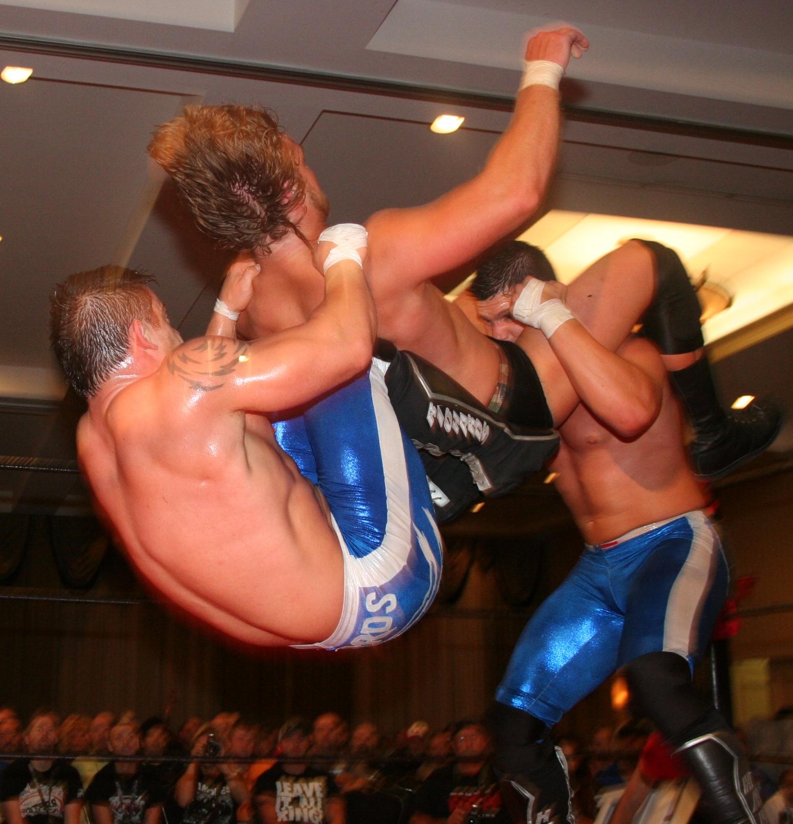 Sexy wrestling backbreaker
