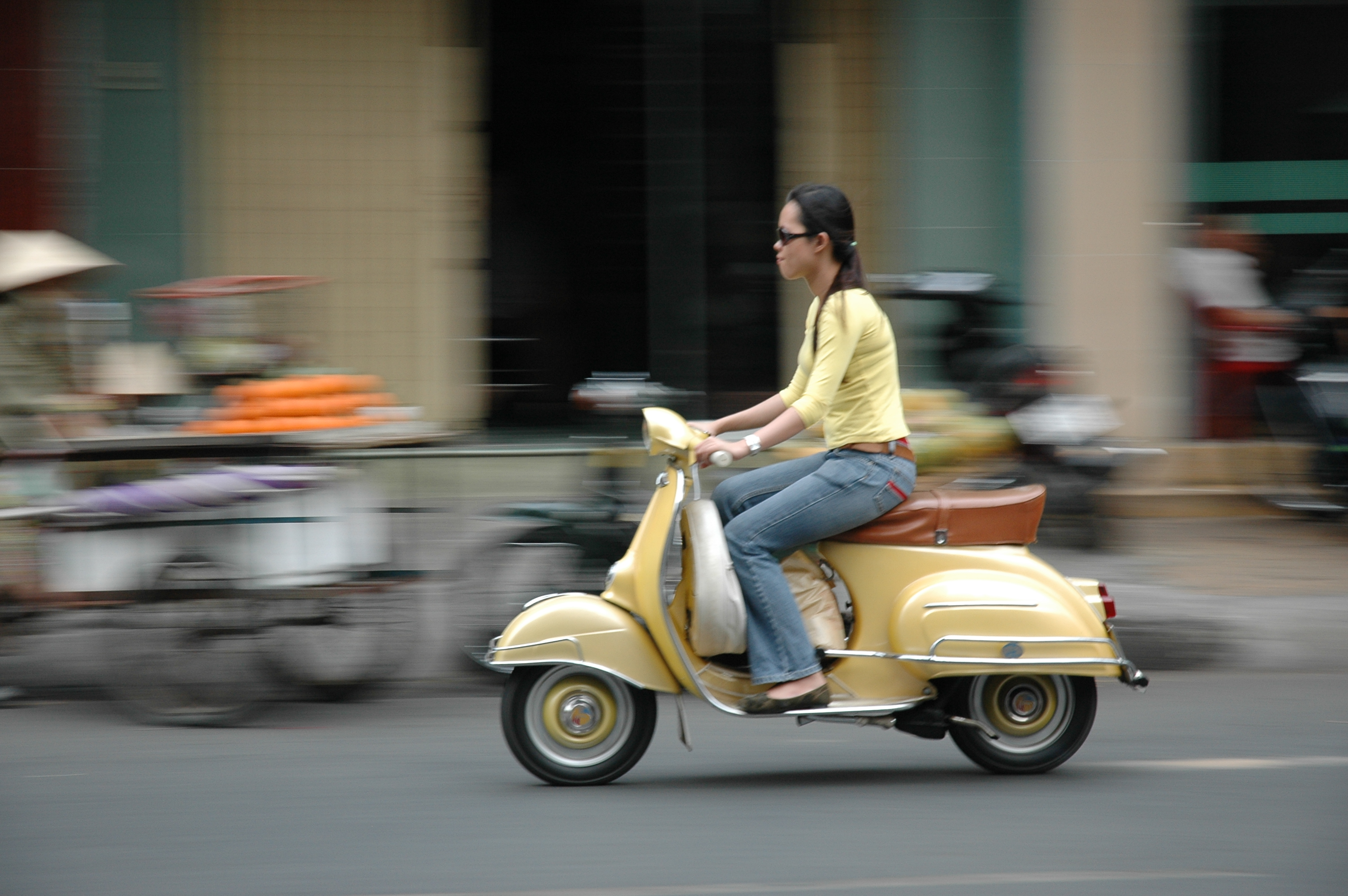 FileWoman On Motor Scooter In Vietnam