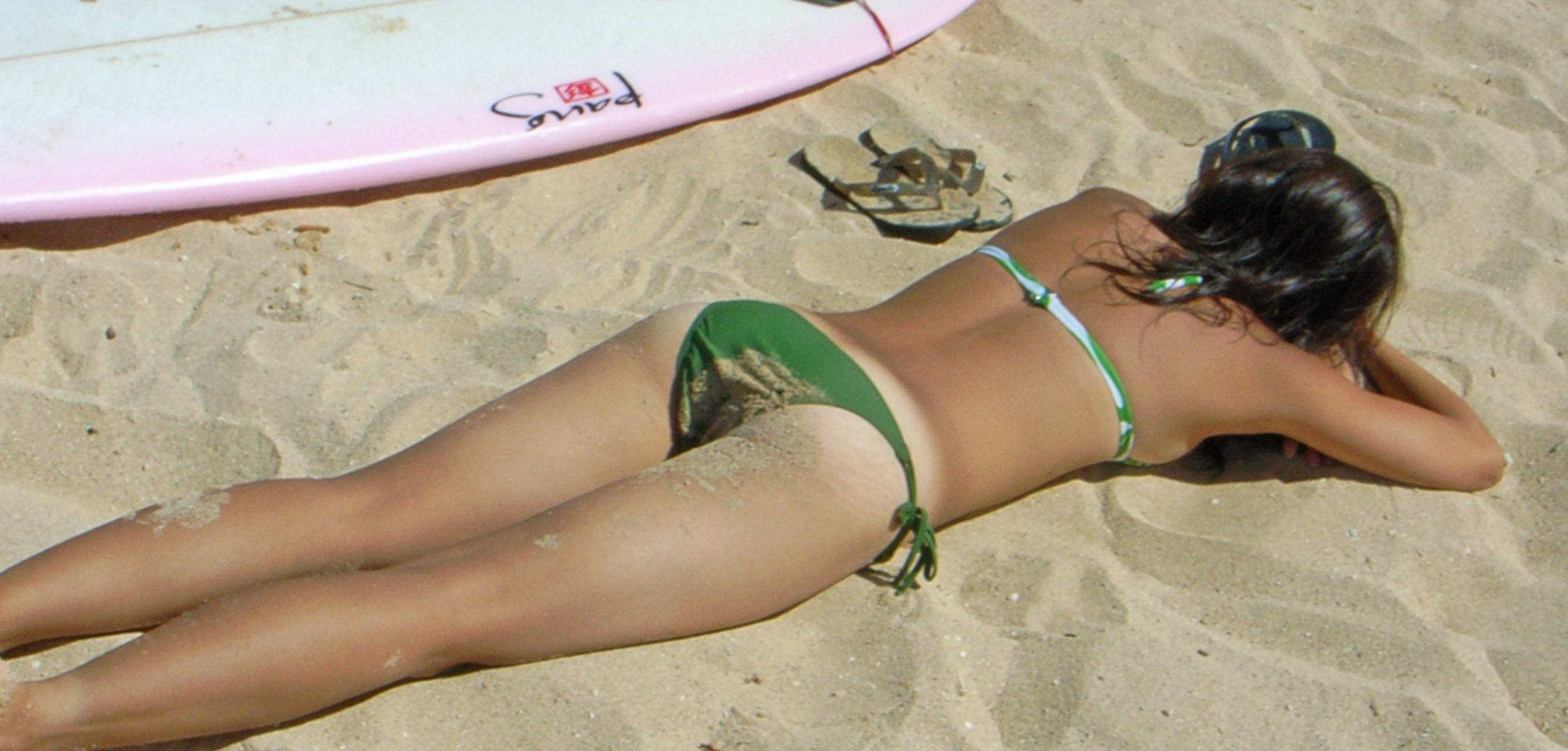 on th beach