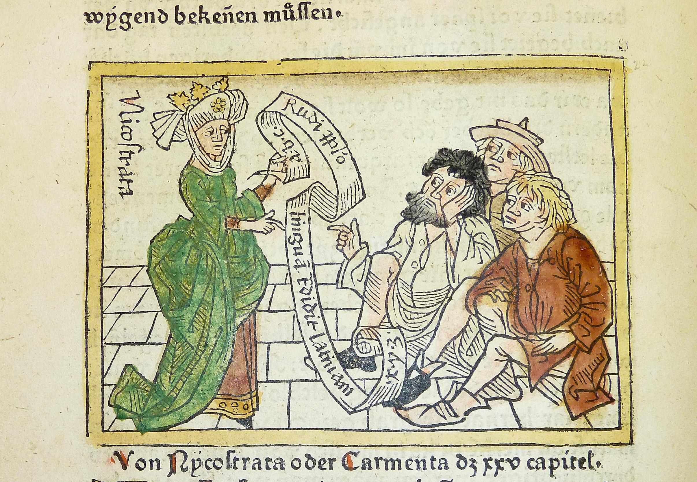Datei:Woodcut illustration of Nicostrata (also Nicostrate ...