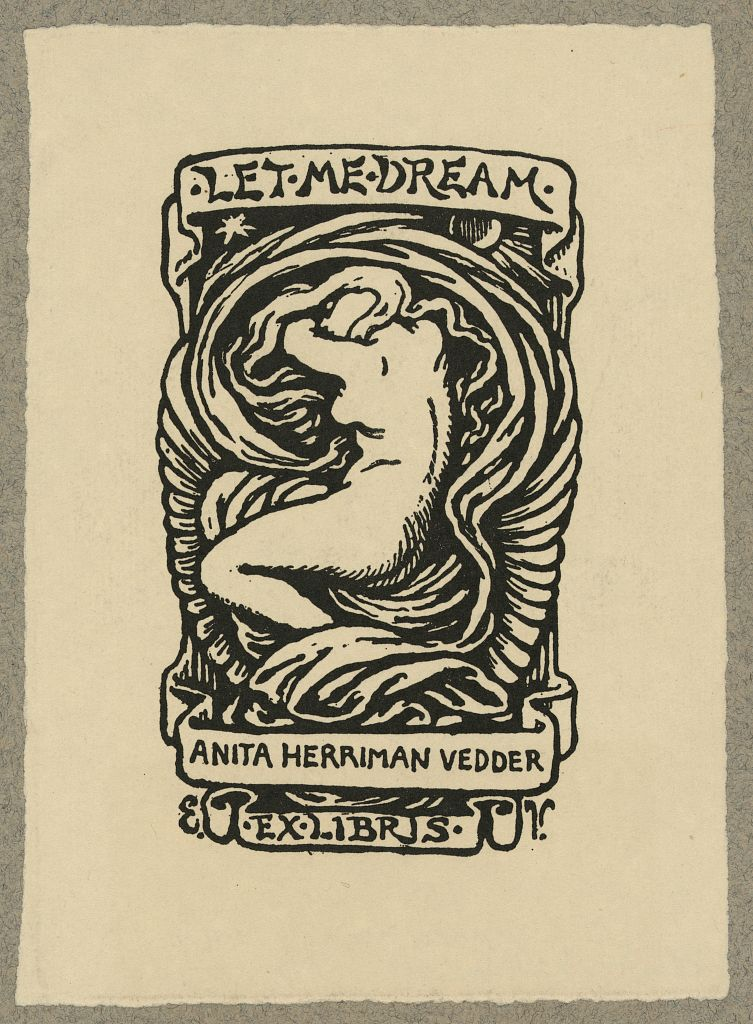 (Bookplate of Anita Herriman Vedder, Rome, Italy) (LOC) (15609992602).jpg