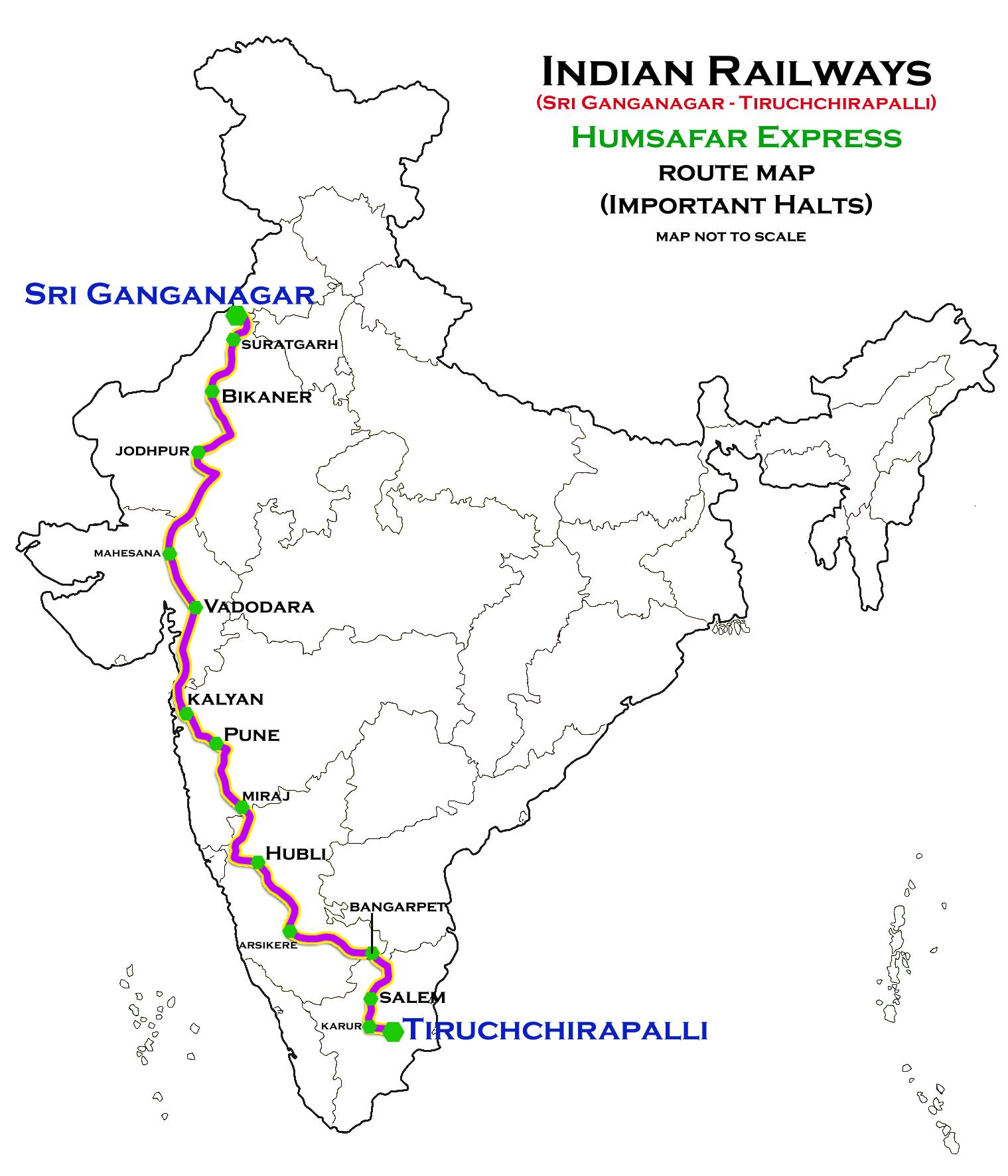Sri Ganganagar – Tiruchirappalli Humsafar Express - Wikipedia