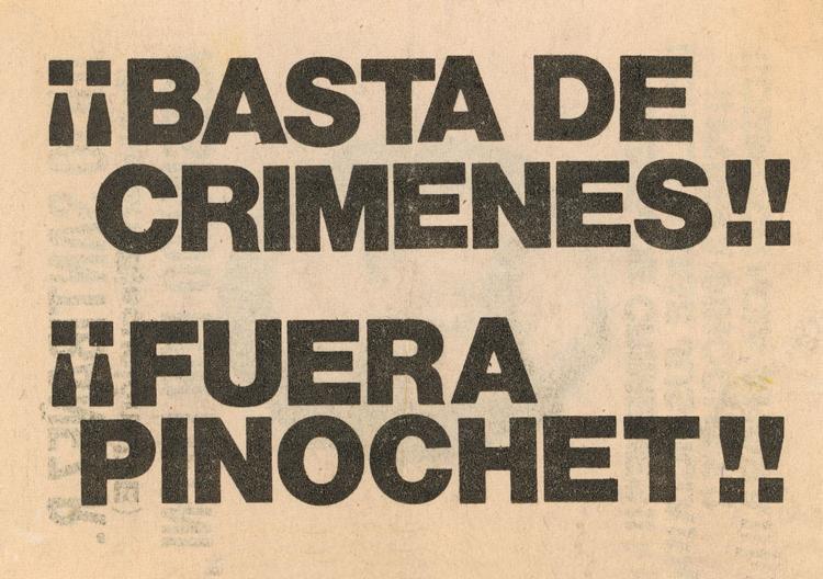 Panfleto de inicios de los años 1980.