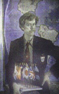 Pena portrait at NY Explorers Club (1988)