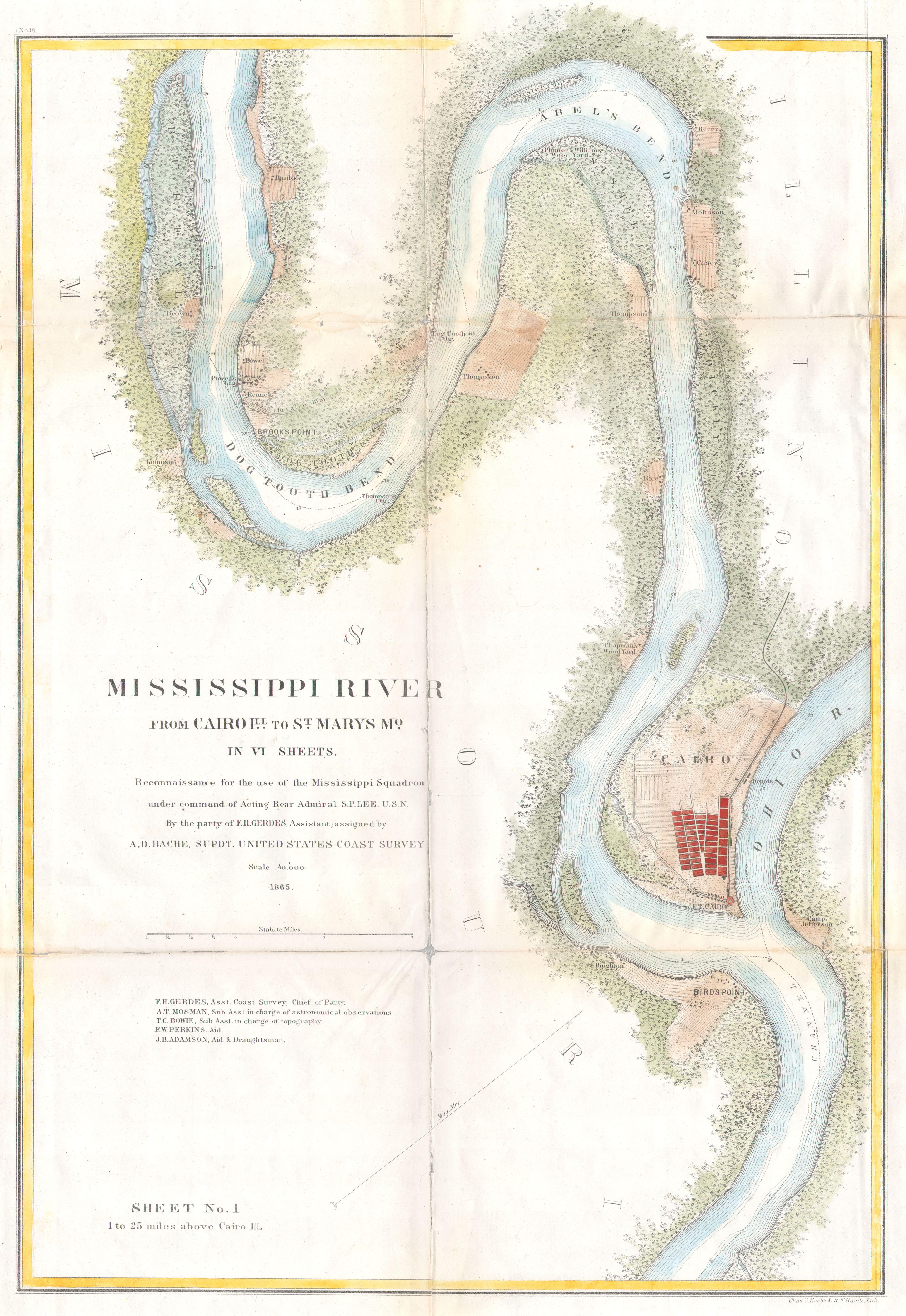 File:1865 U.S.C.S. Map of the Mississippi River From Cairo, Illinois on