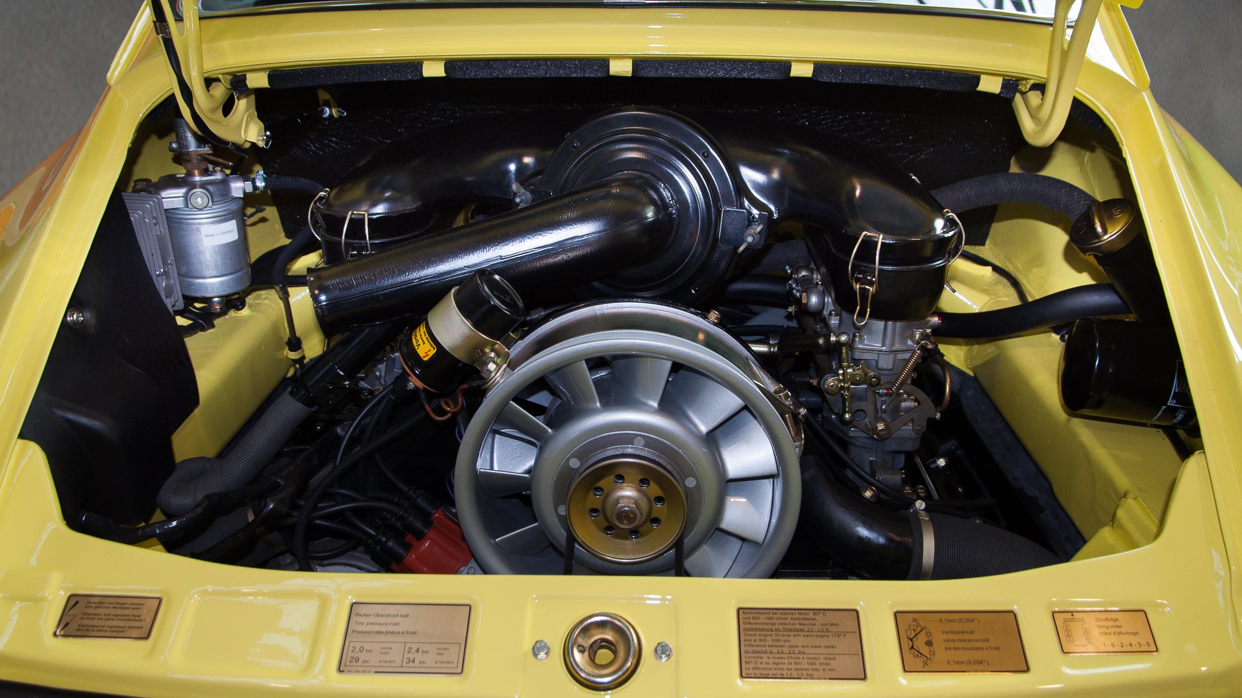 Datei 1973 Porsche 911 T Coup 233 Motor 911 57 Jpg Wikipedia
