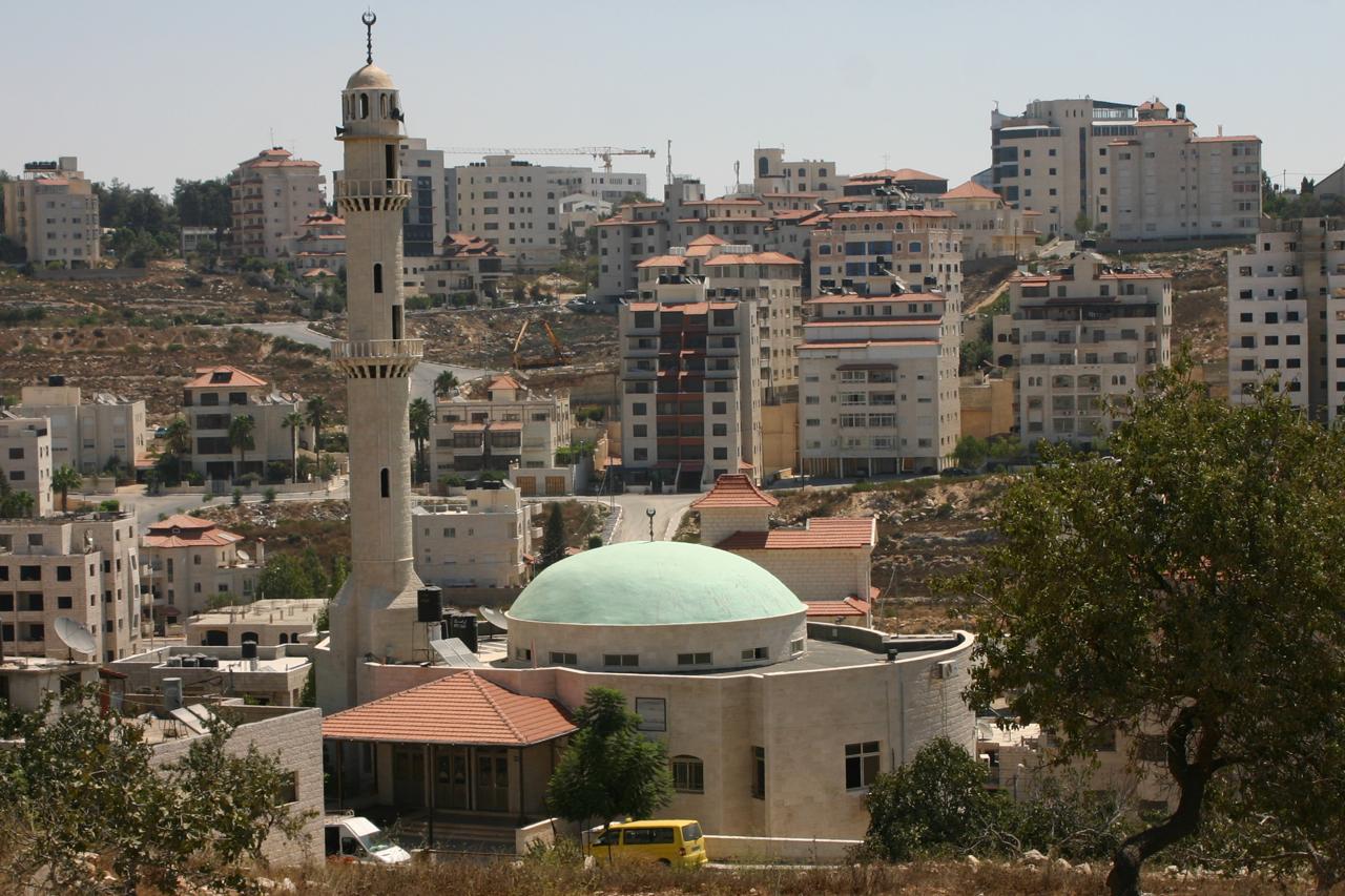 Blick über Ramallah. In dieser Stadt hat die Regierung der Palästinenser ihren Sitz.