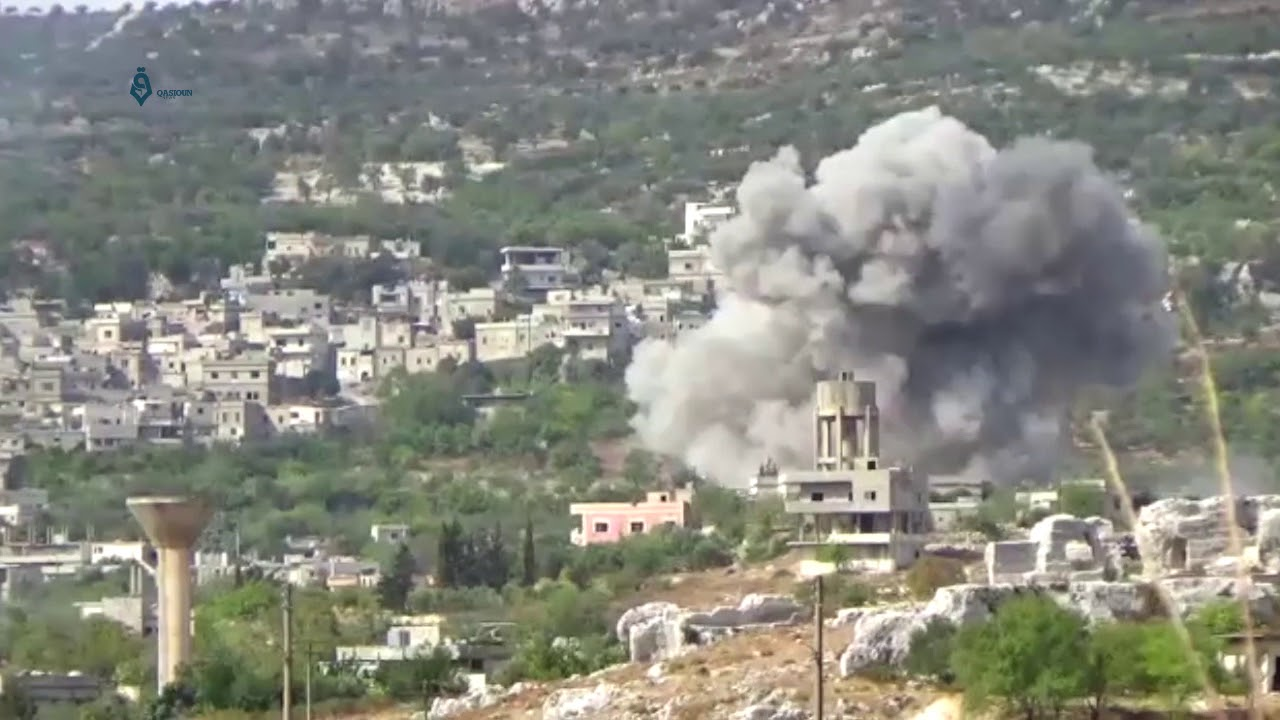 Airstrike in Bidama, west of Idlib.jpg