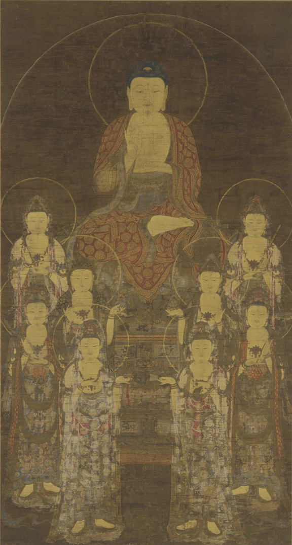 Amitabha and Eight Great Bodhisattvas (Freer Gallery of Art).jpg