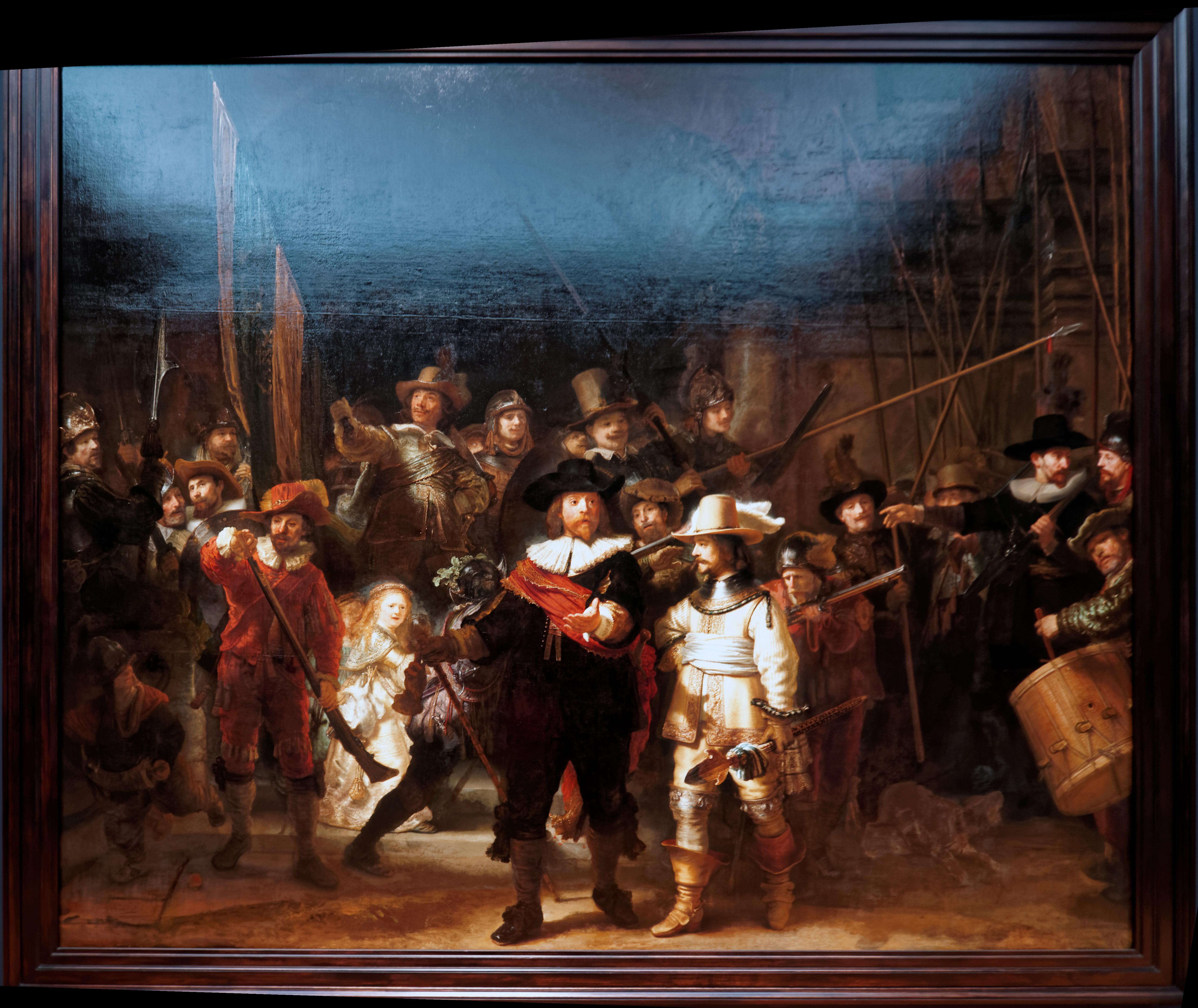 https://upload.wikimedia.org/wikipedia/commons/f/f0/Amsterdam_-_Rijksmuseum_1885_-_The_Gallery_of_Honour_%281st_Floor%29_-_De_Nachtwacht_-_The_Night_Watch_1642_by_Rembrandt_van_Rijn.jpg