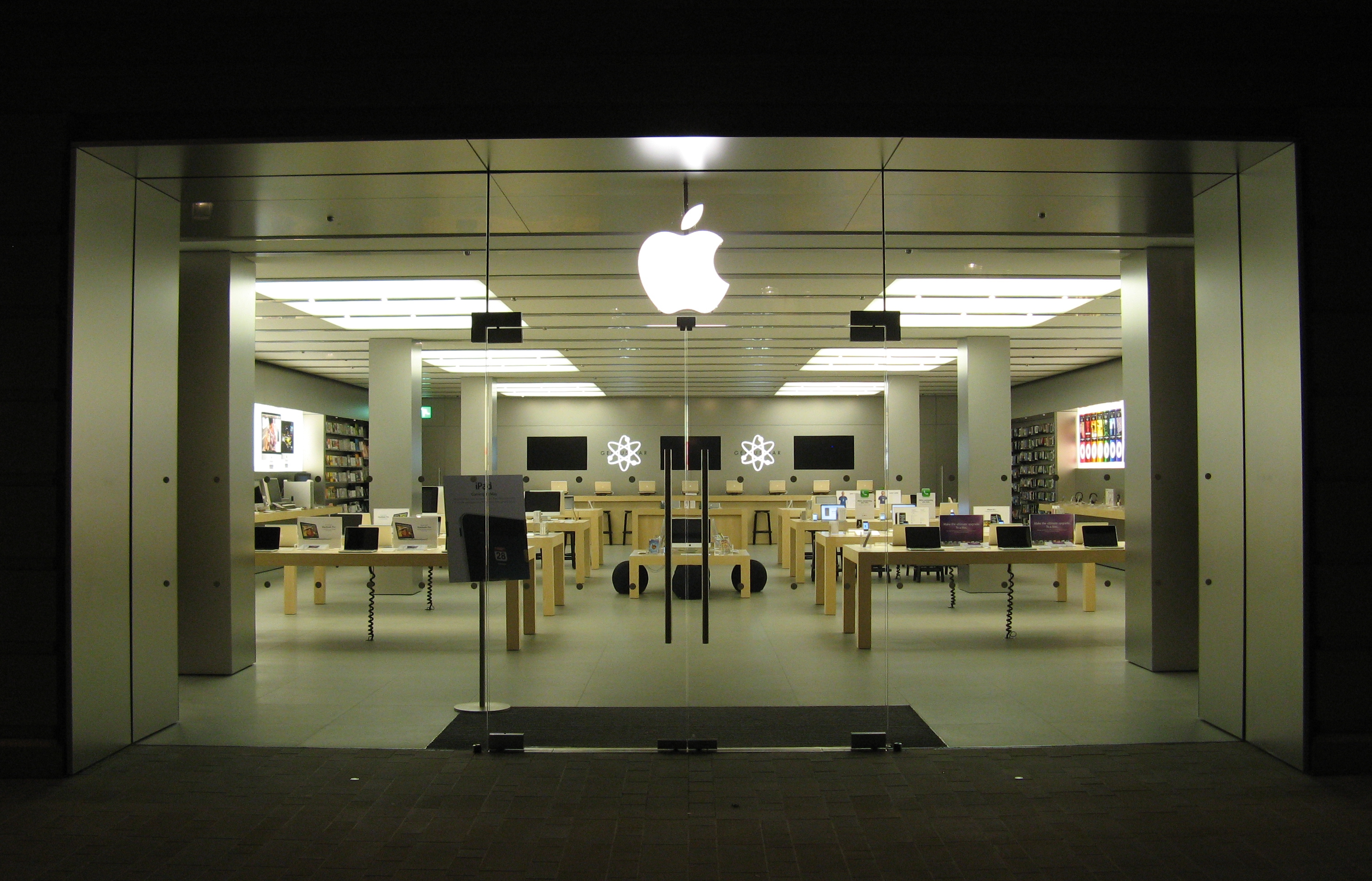 Open Store Doors file:apple store, bath, doors at night - wikimedia commons