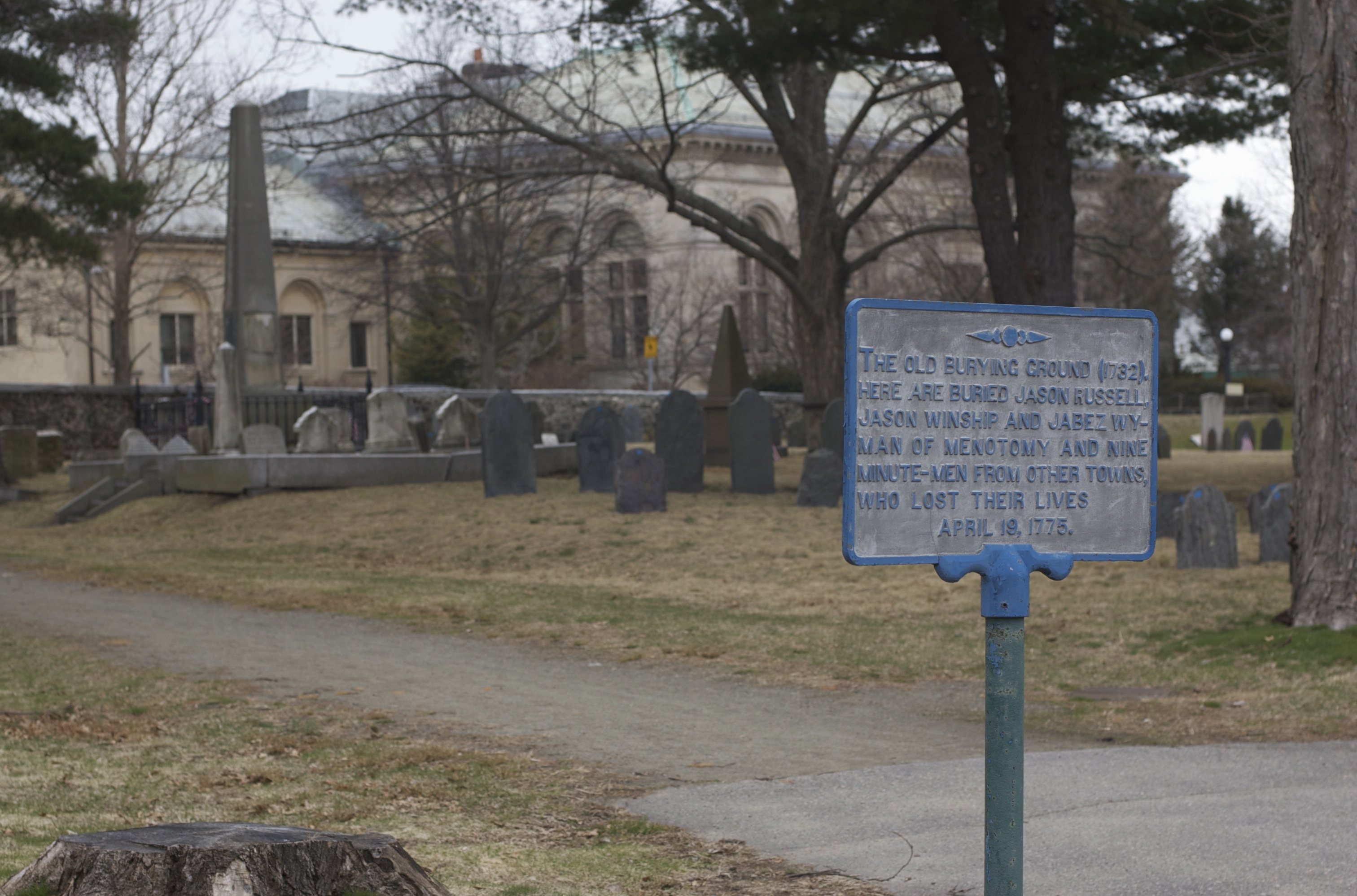 Image result for old burying ground arlington ma
