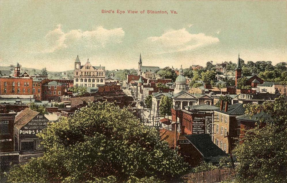Bird's eye view of Staunton, Commonwealth of Virginia