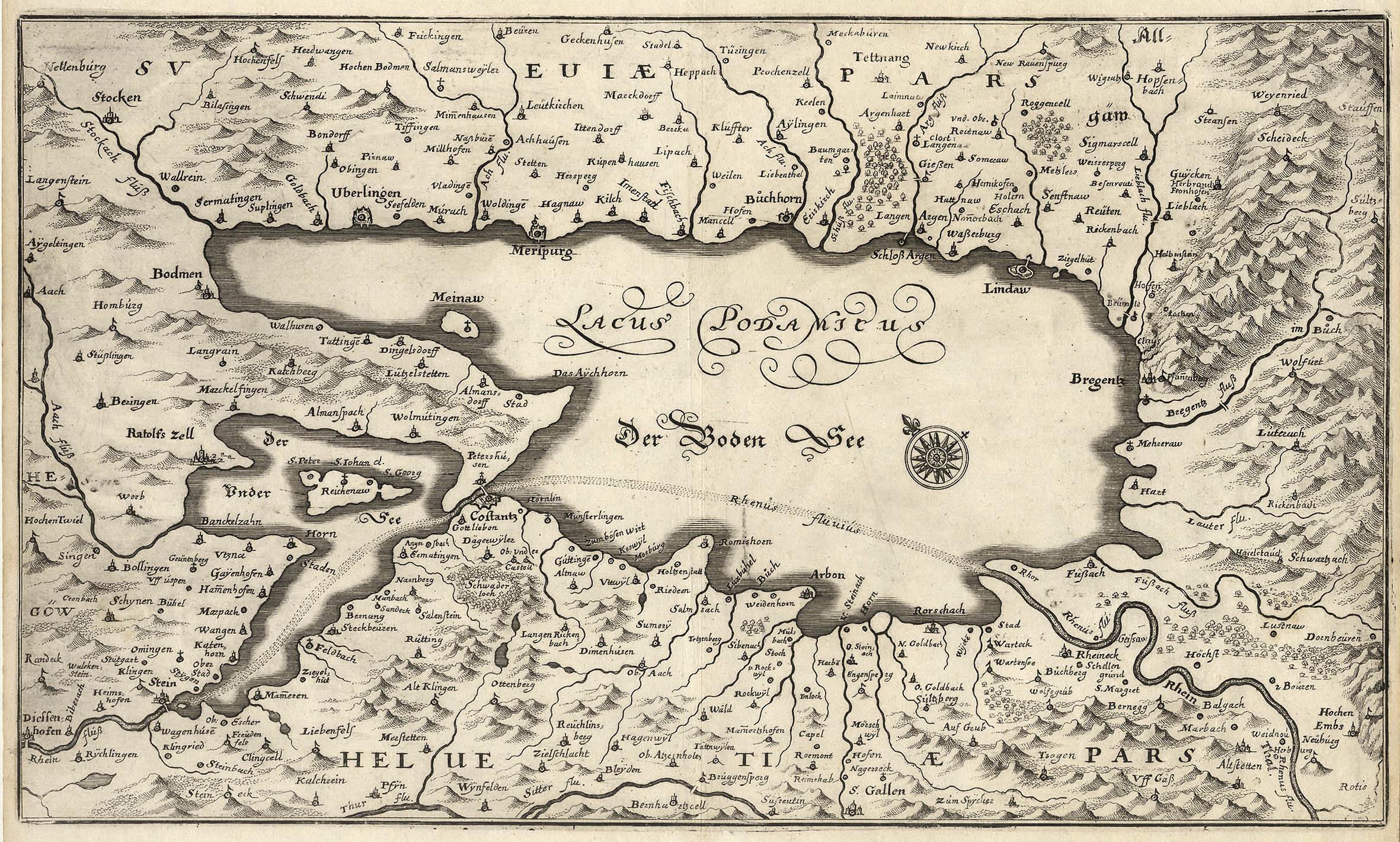 Bodensee Karte.File Bodensee Karte Merian 1672 Jpg Wikimedia Commons