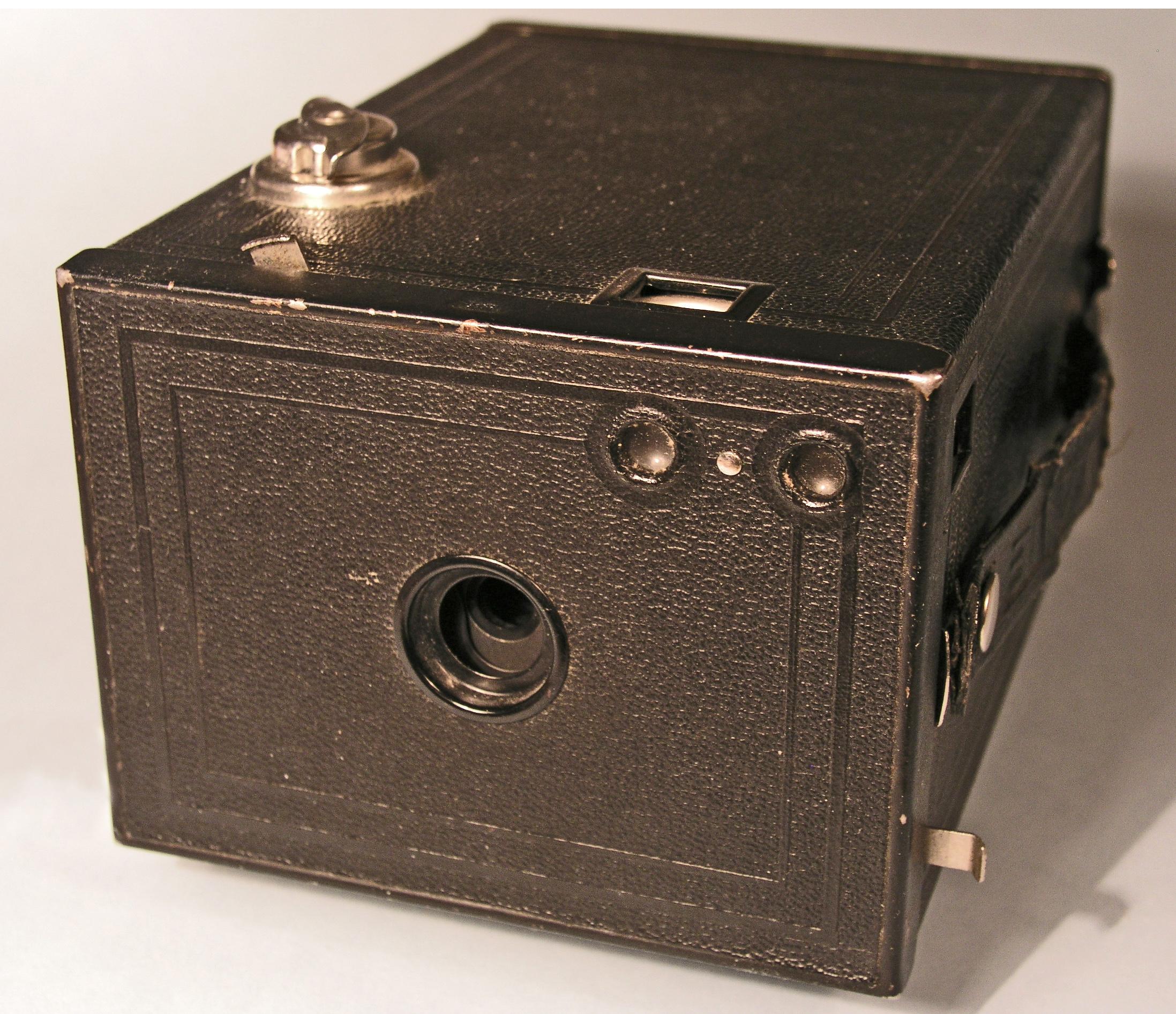 "The ""Brownie 2"" camera. Made of cardboard"