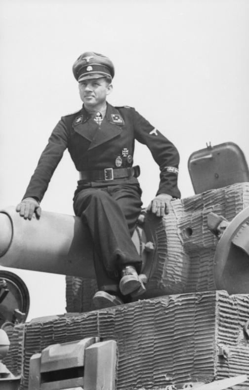 Wittmann on his Tiger