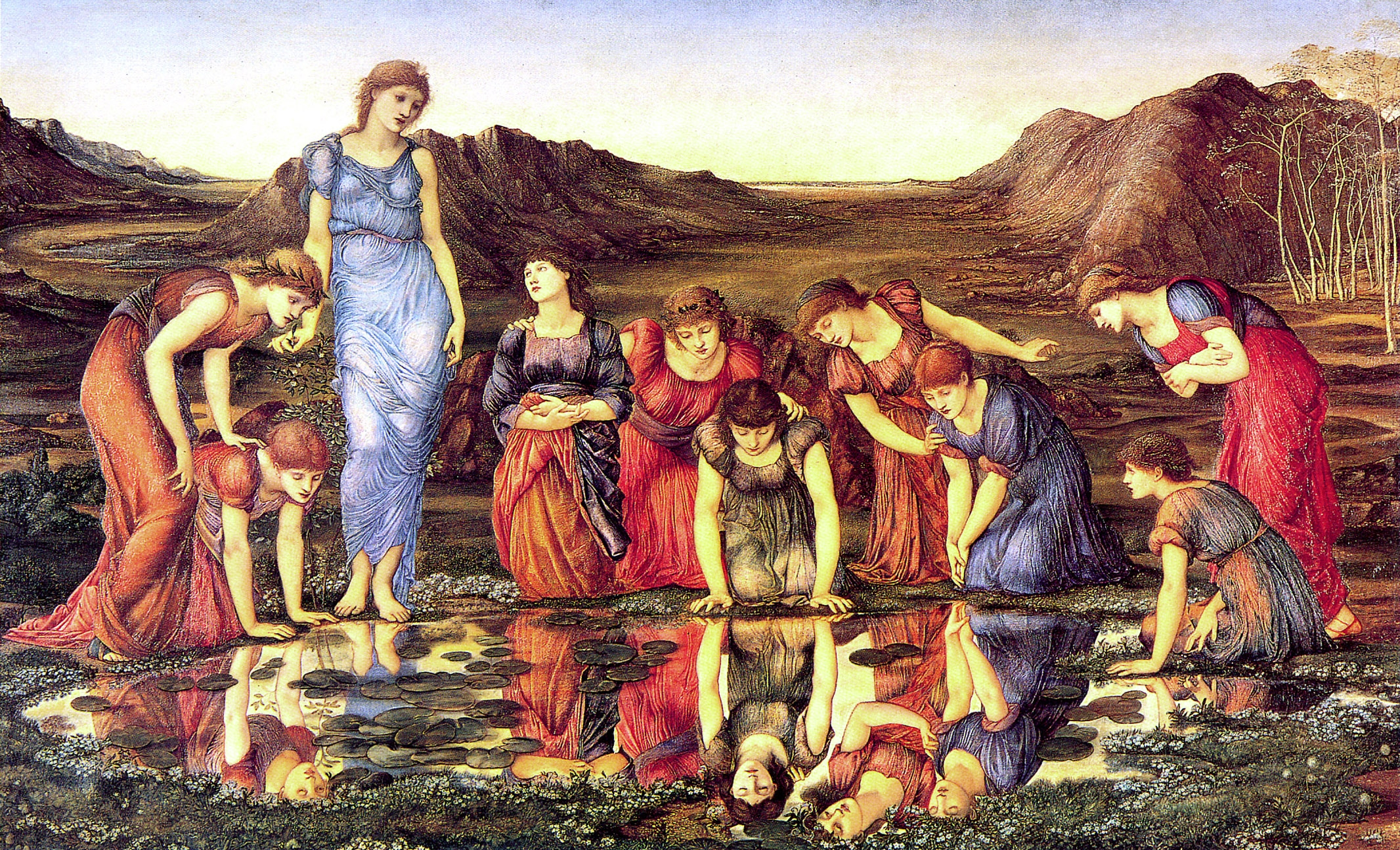 https://upload.wikimedia.org/wikipedia/commons/f/f0/Burne-Jones%2C_Edward_-_The_Mirror_of_Venus_-_1875_-_hi_res.jpg