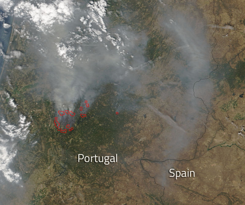 Map Of Fires In Spain 2017.June 2017 Portugal Wildfires Wikipedia